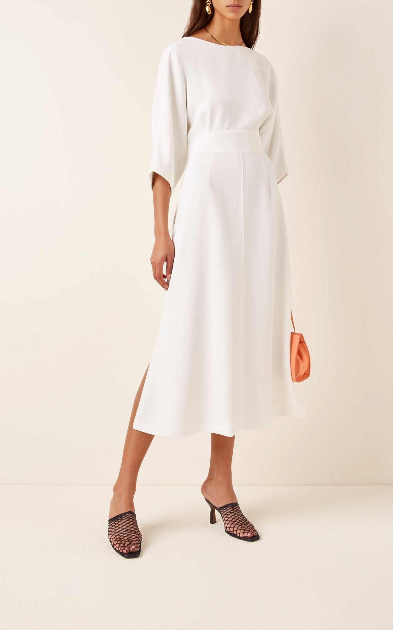 RACHEL COMEY Lyss Pleated Crepe Midi Dress
