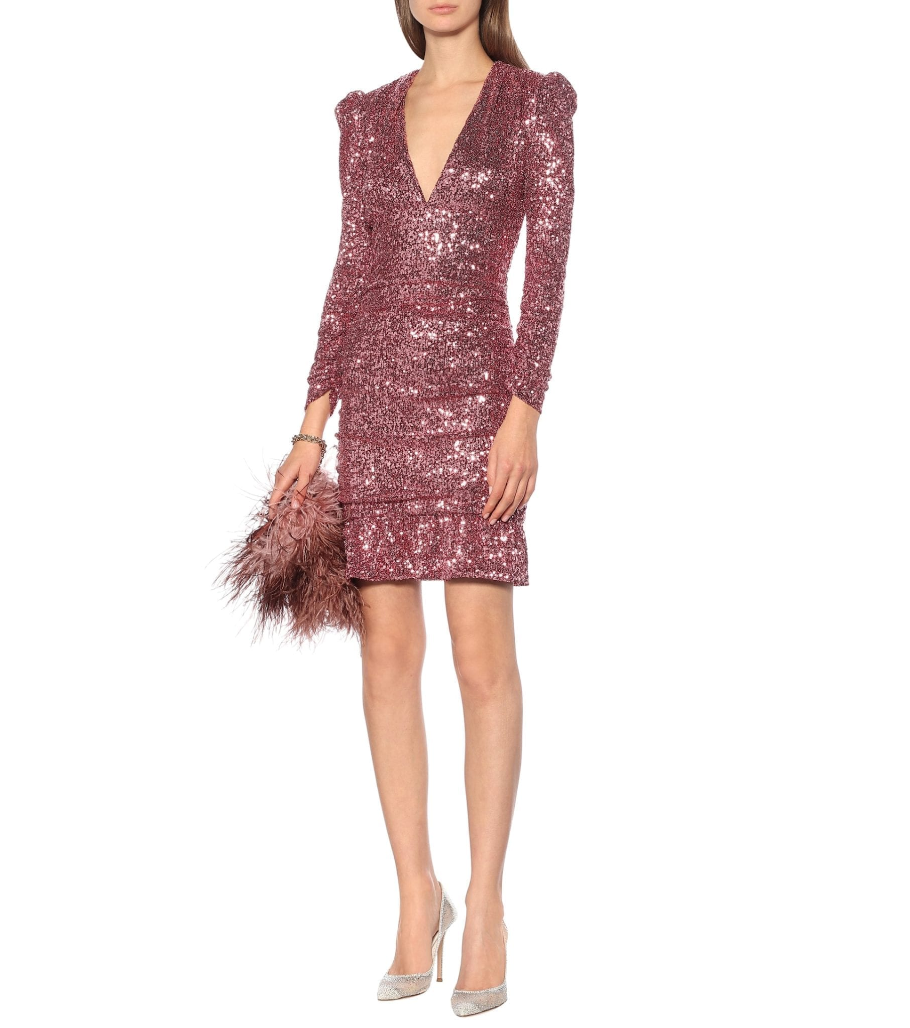 REBECCA VALLANCE Sequined Mini Dress