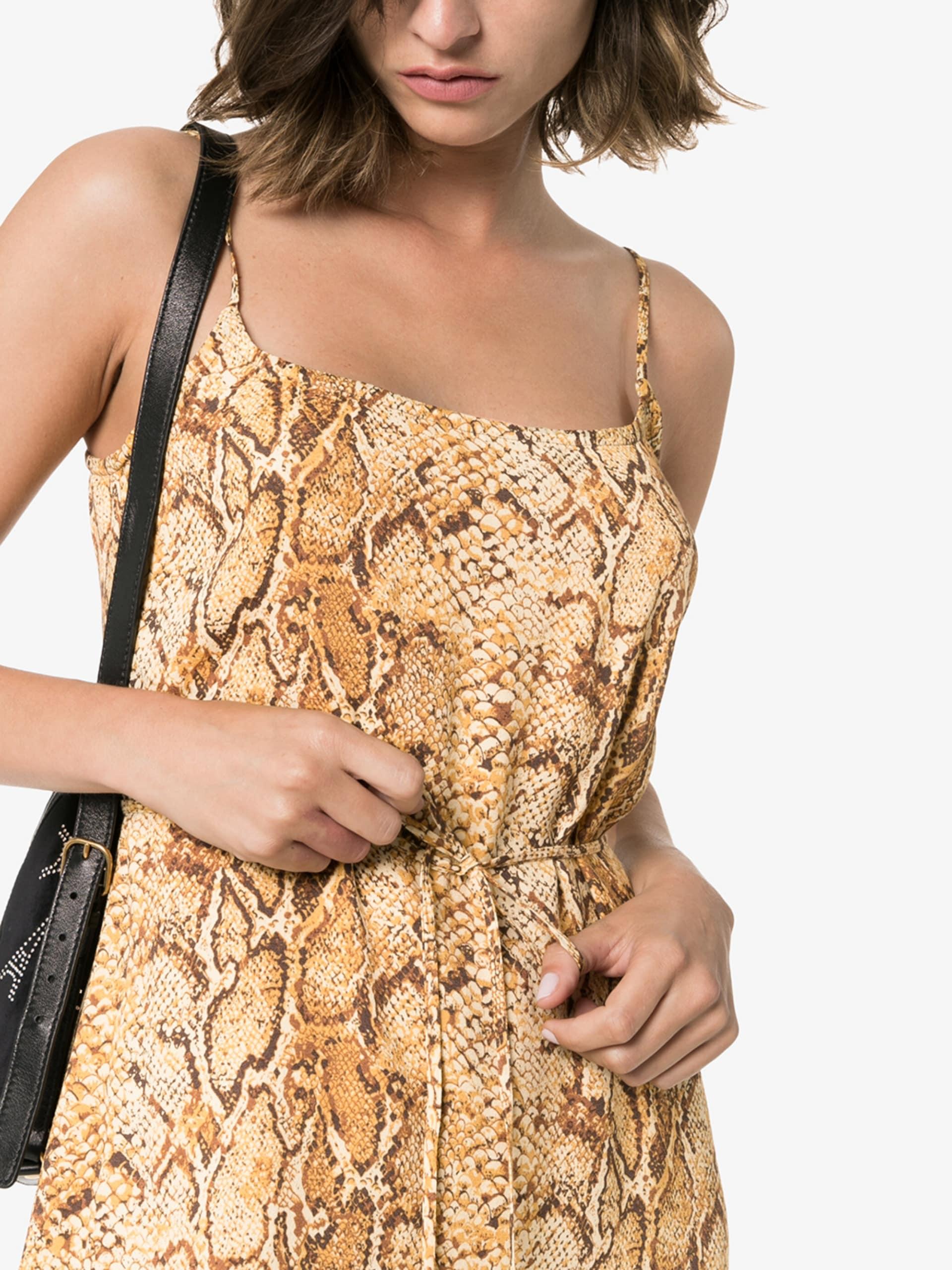 REFORMATION Vivette Snake Print Mini Dress