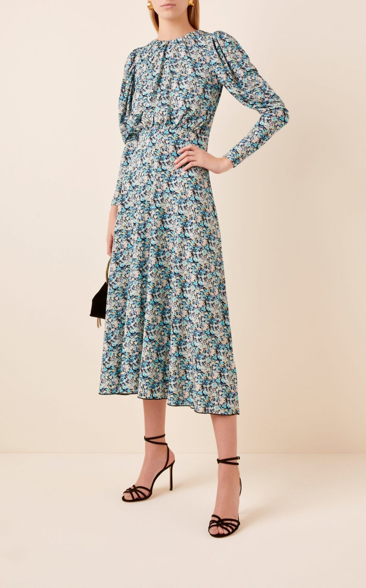 ROTATE Number 57 ReRunner Crepe Midi Dress