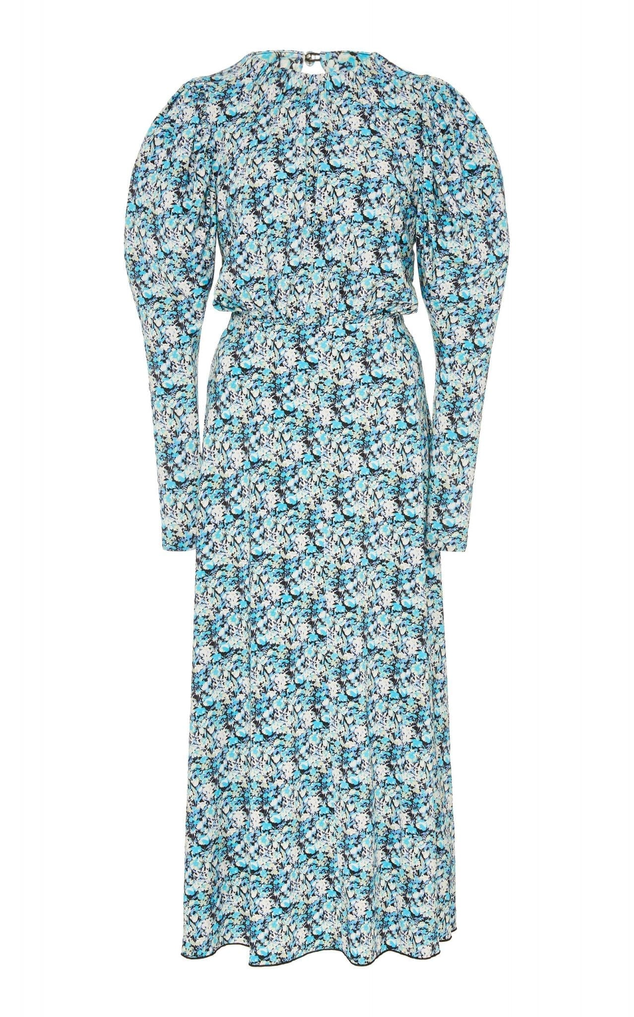 ROTATE Number 57 ReRunner Crepe Midi Dress