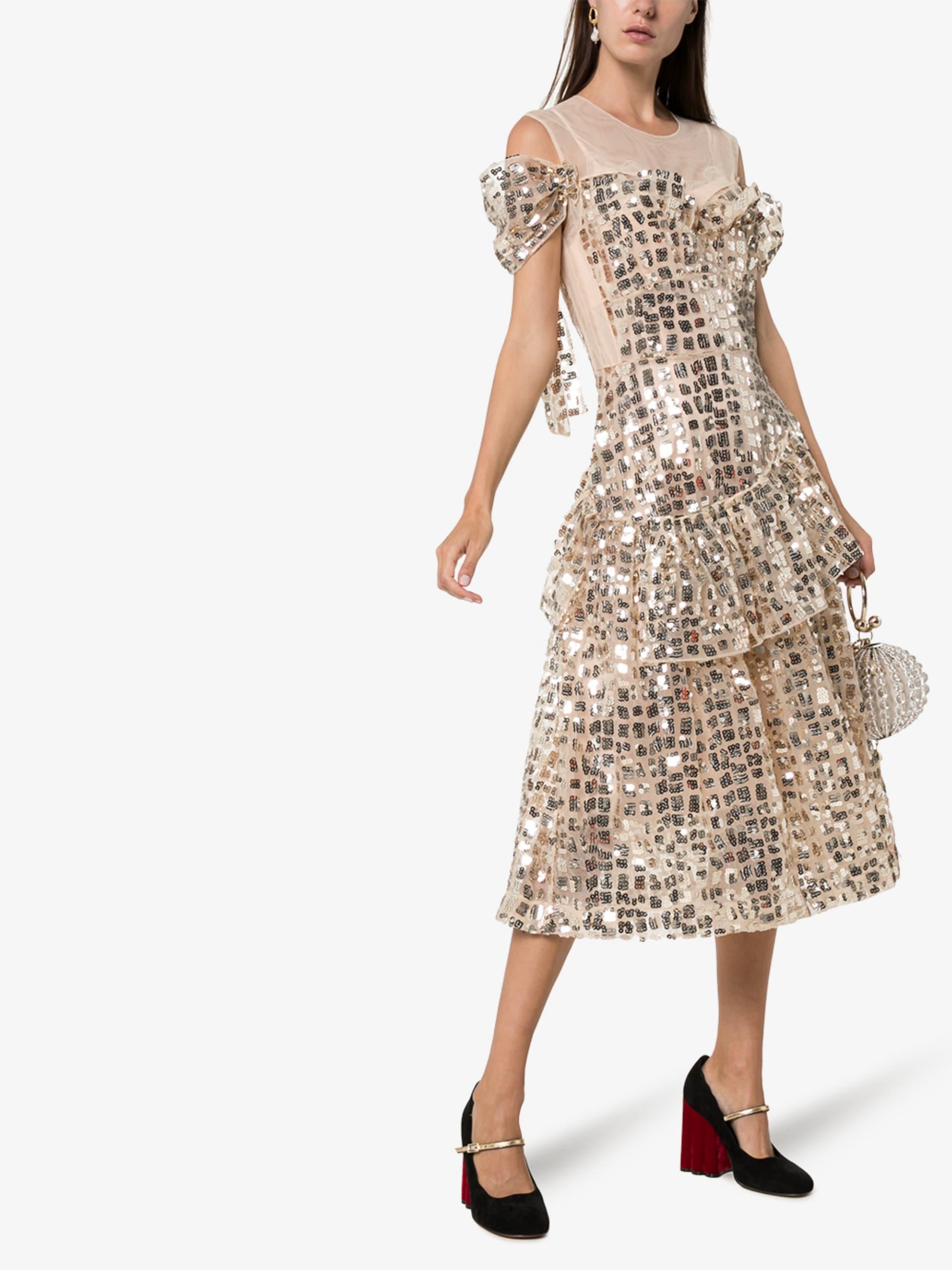 SIMONE ROCHA Ruffled Sequin Dress