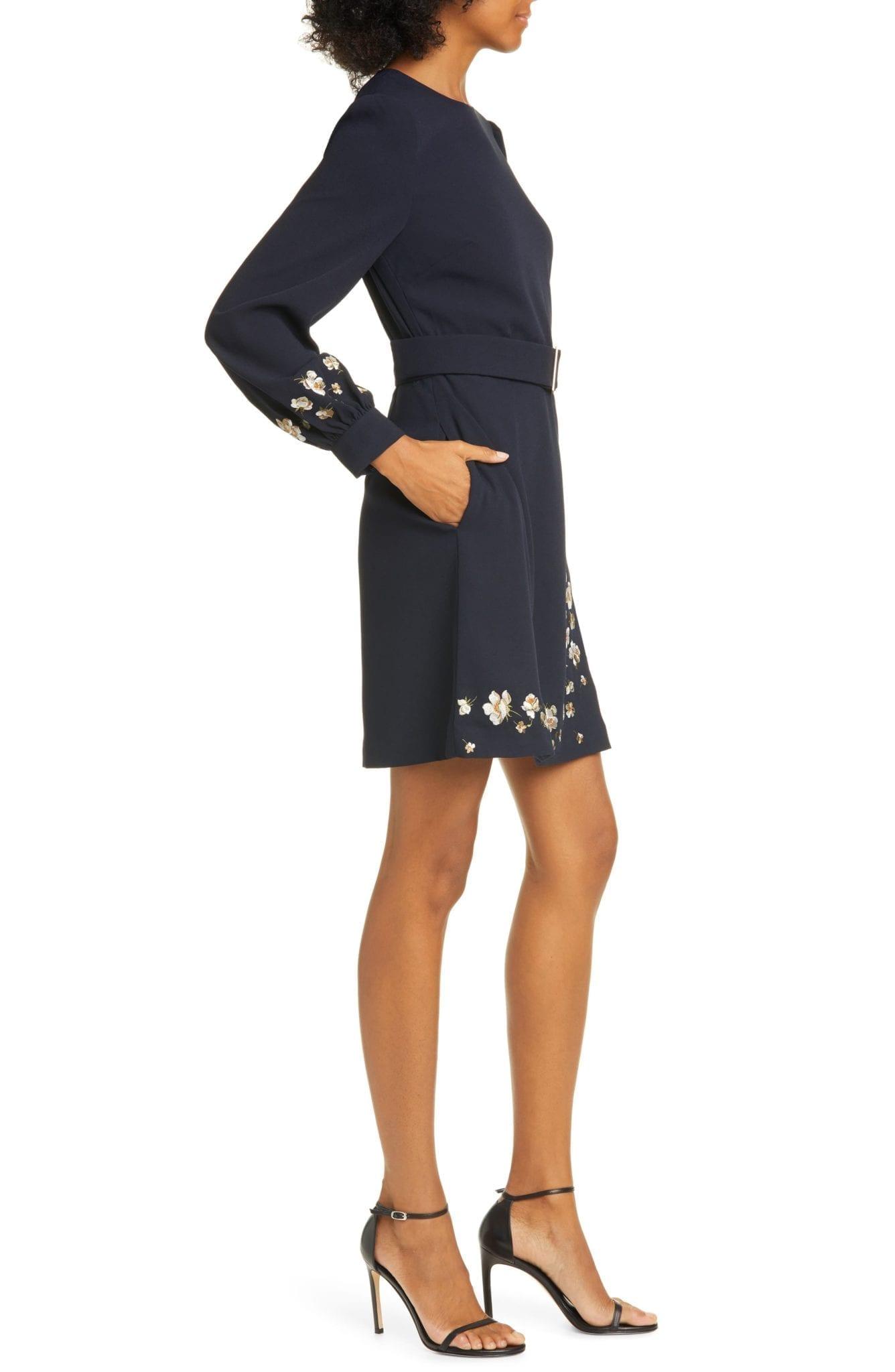 Ted Baker London Pearl Floral Long Sleeve Dress We