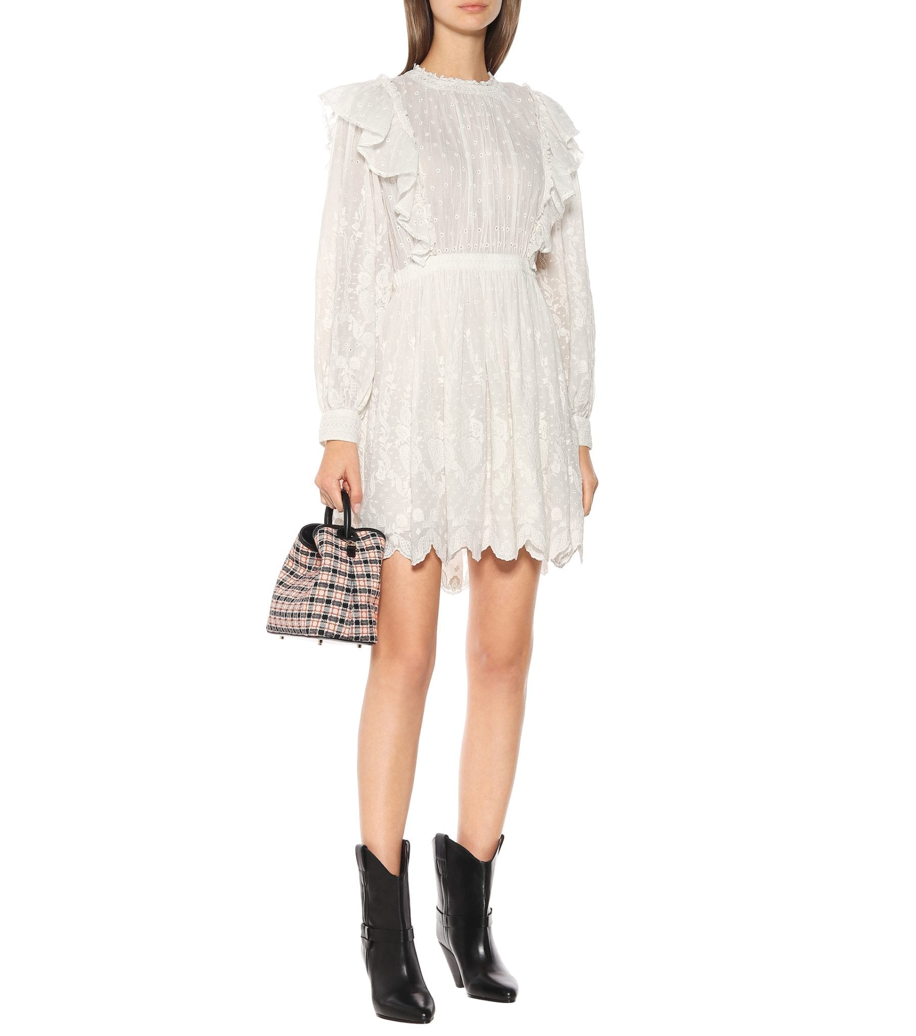 ULLA JOHNSON Dorithie Cotton Mini Dress