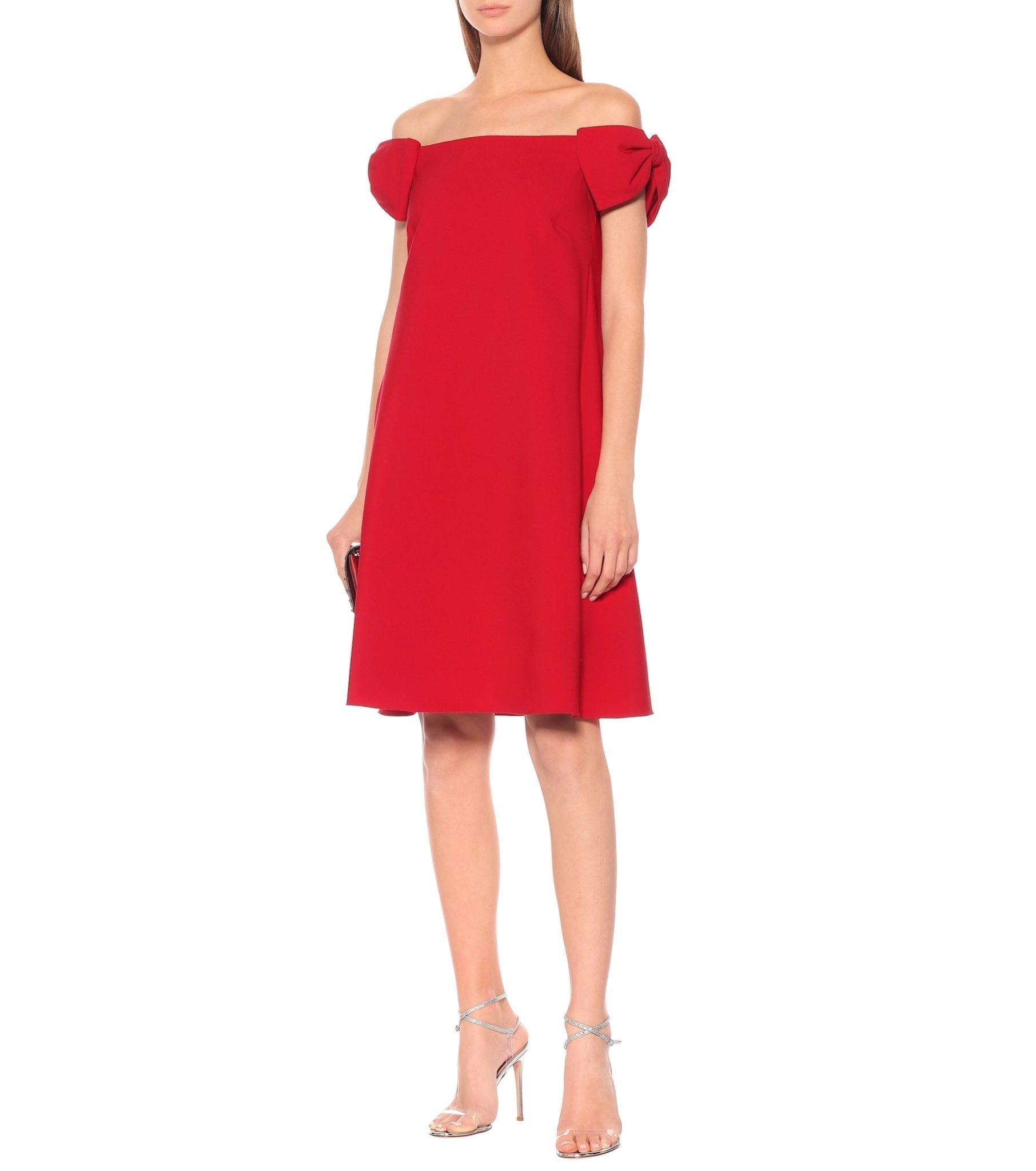 VALENTINO Wool-blend Crêpe Dress