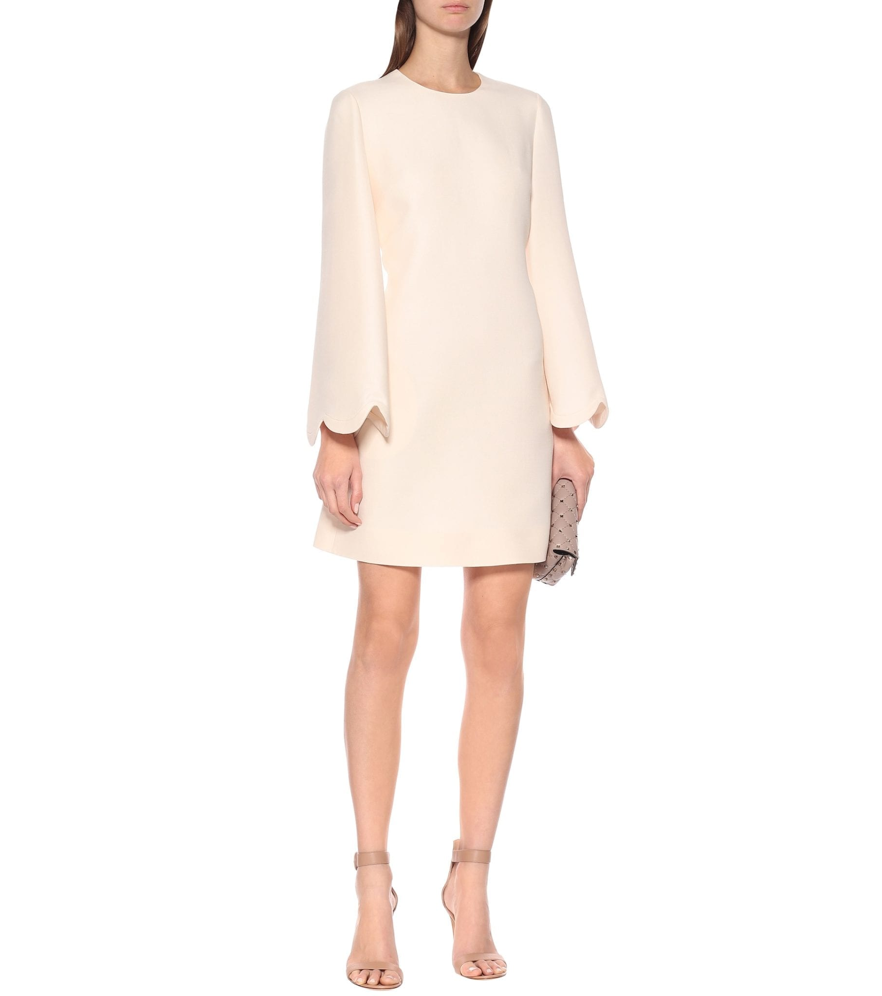 VALENTINO Wool-blend Crêpe Dress