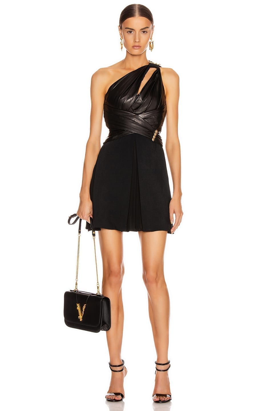 VERSACE One Shoulder Mini Dress