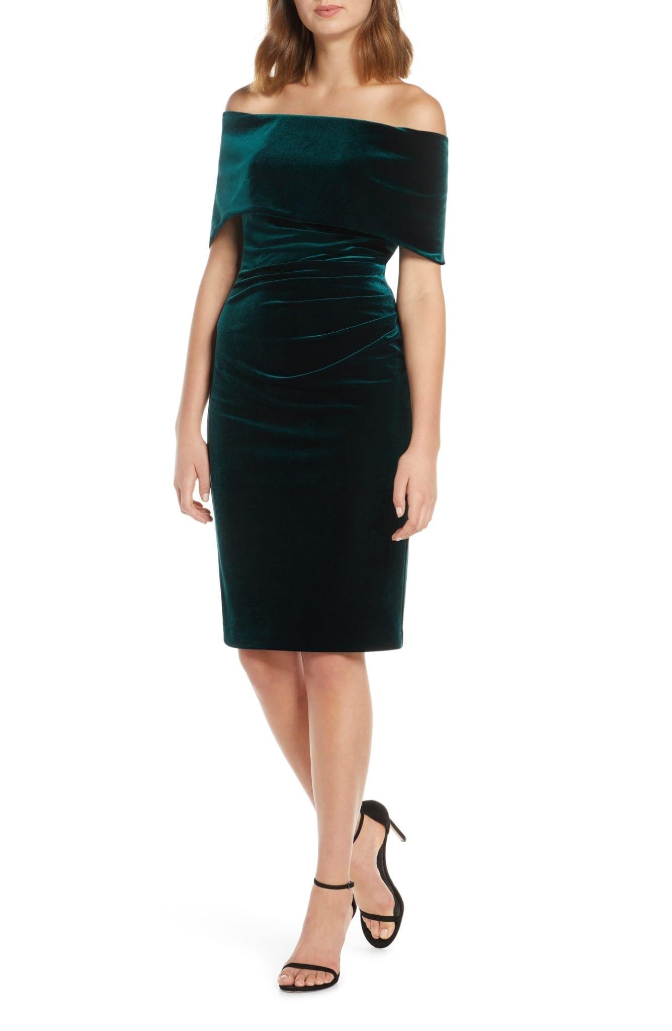VINCE CAMUTO Velvet Off the Shoulder Dress