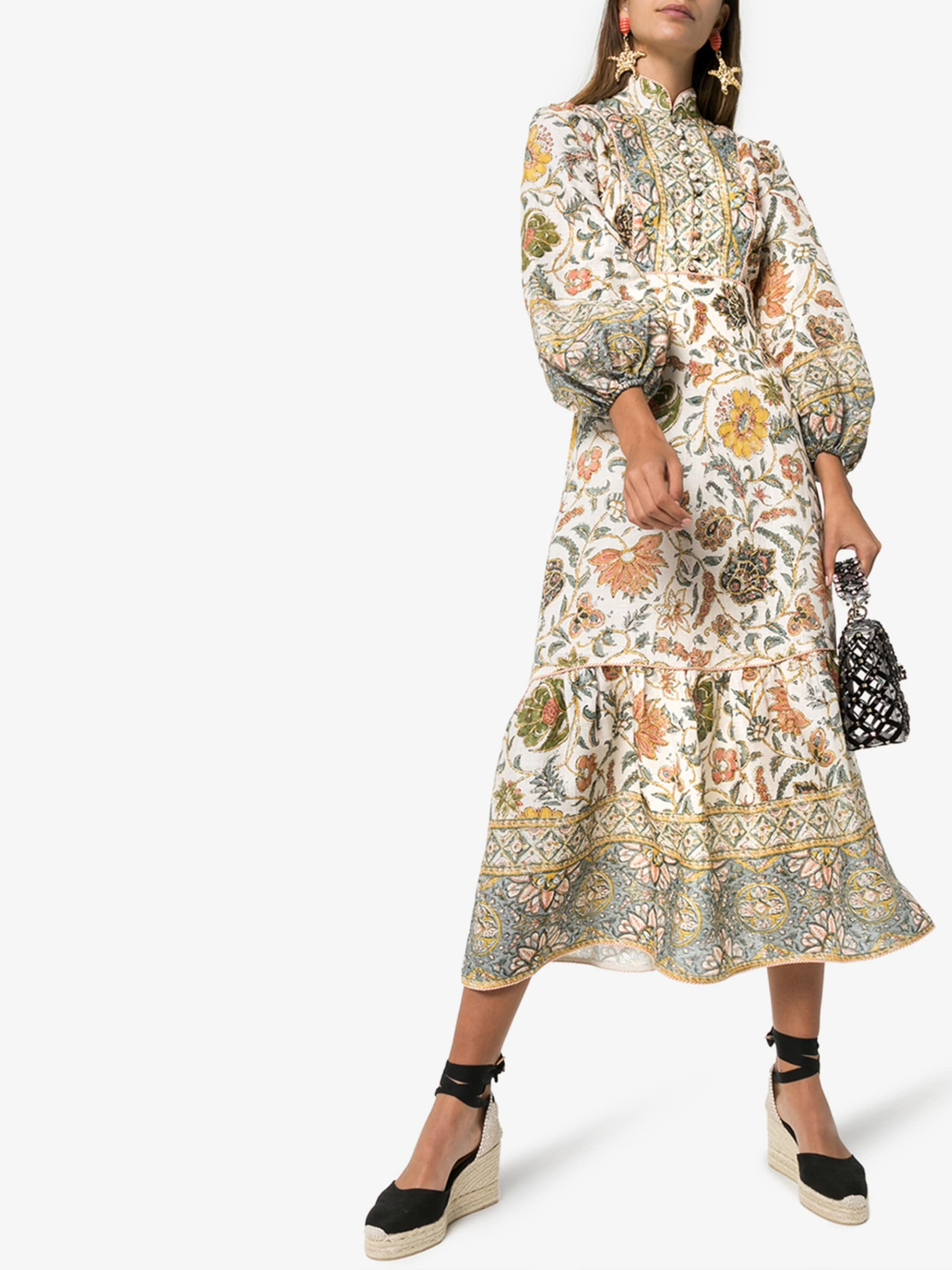 ZIMMERMANN Paisely Print Midi Dress