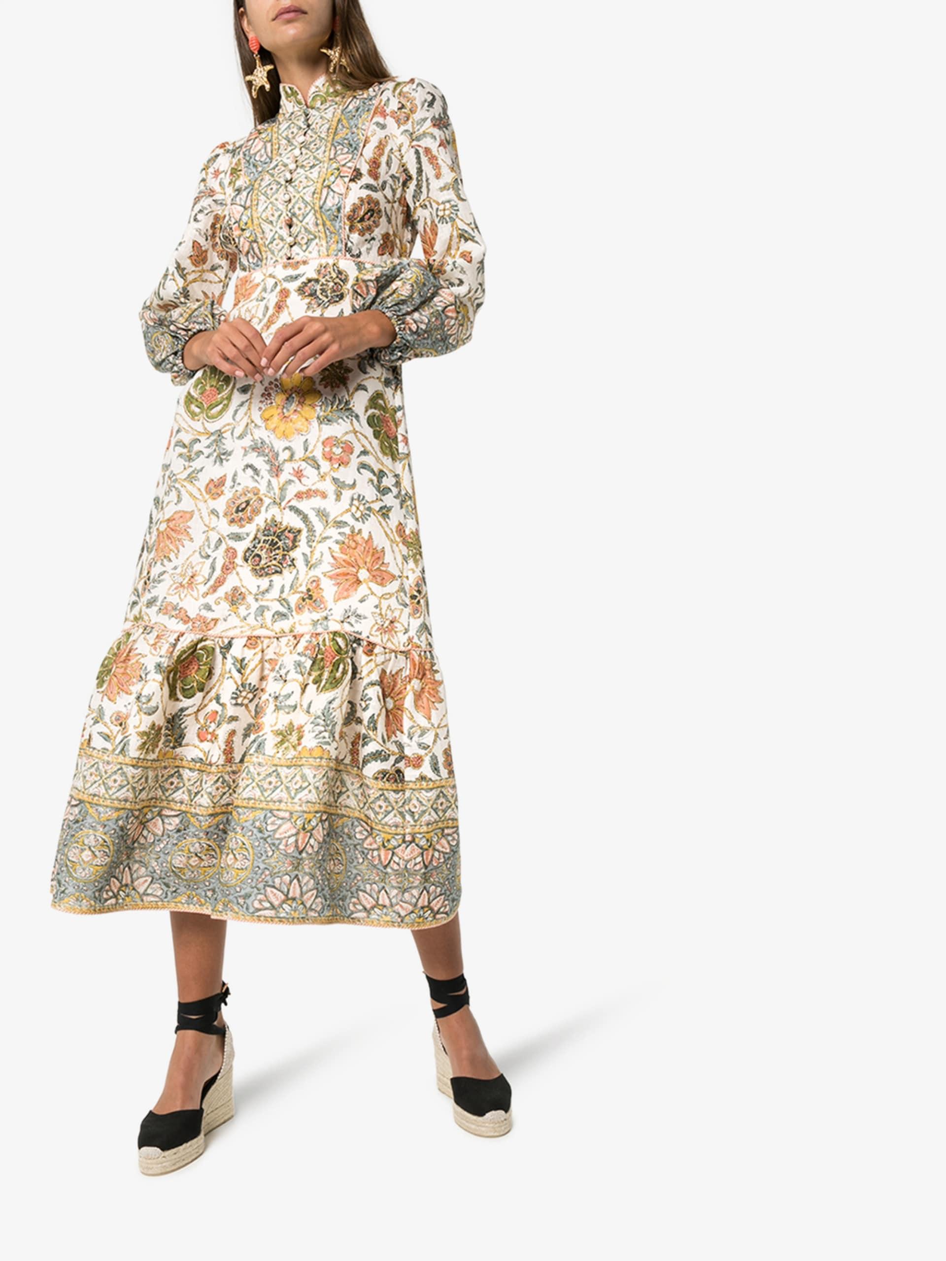 ZIMMERMANN Paisely Print Midi Dress