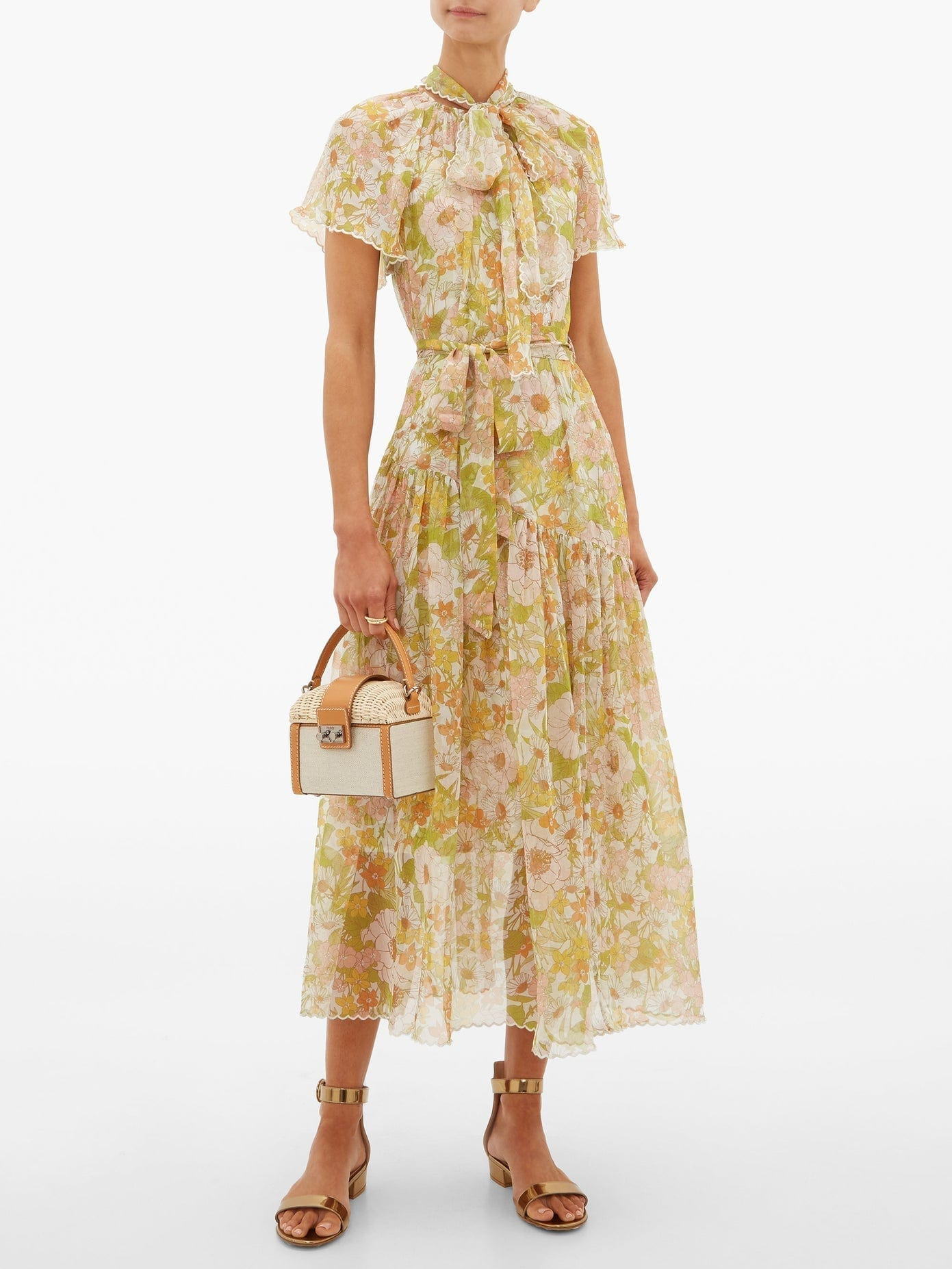 ZIMMERMANN Super Eight Floral-print Silk-chiffon Dress