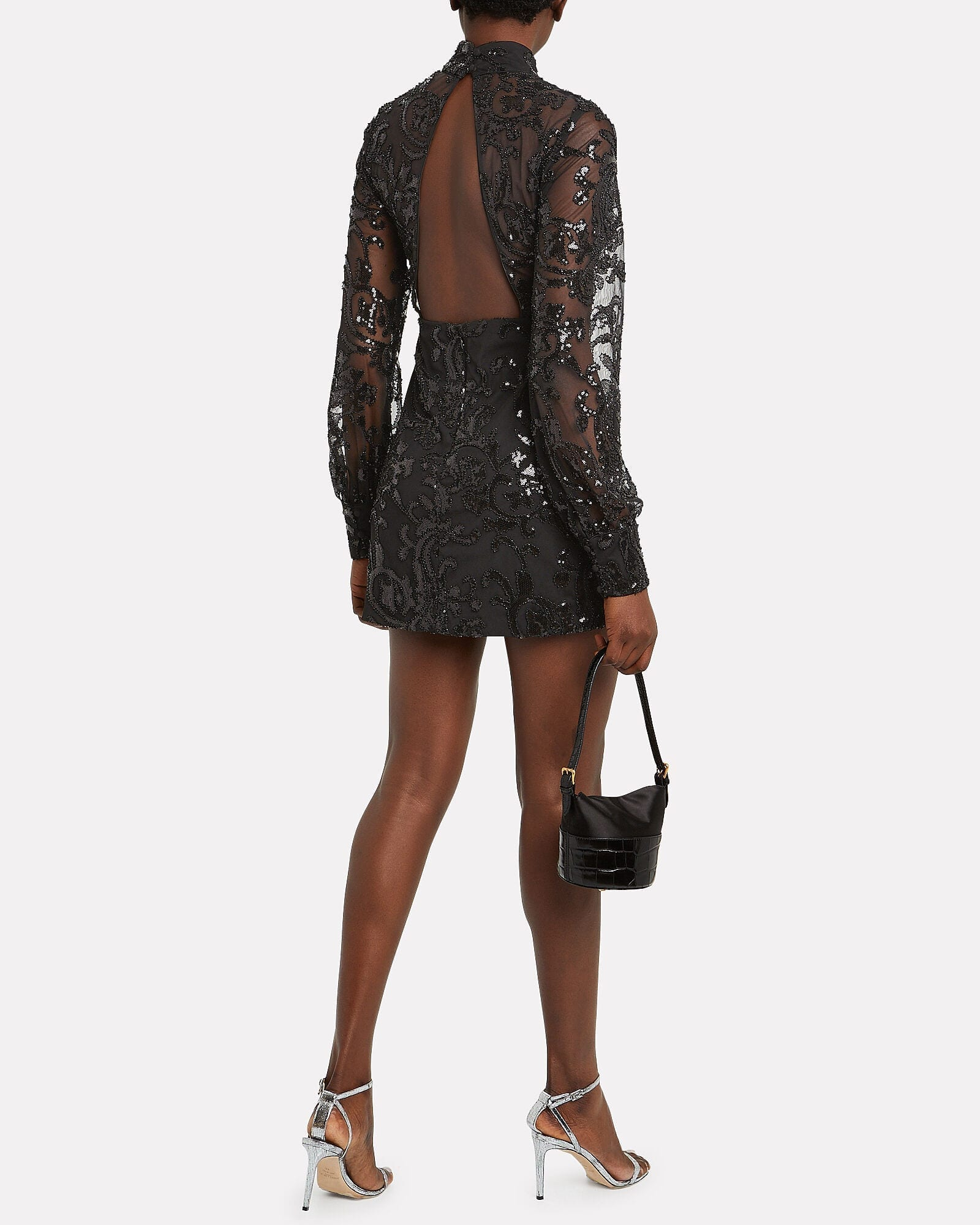 ALEXIS Franciska Sequined Open Back Dress