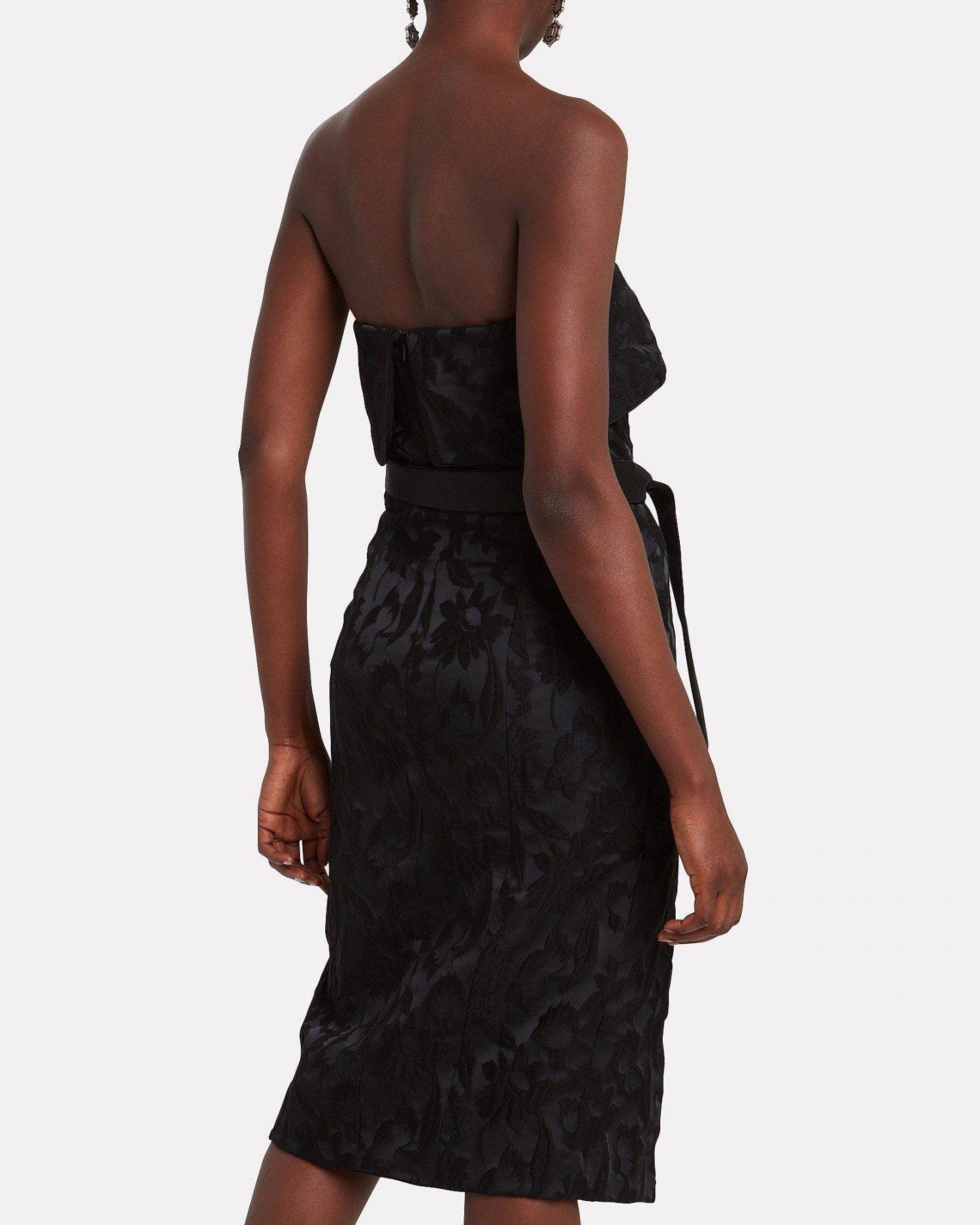 ALEXIS Isotta Floral Jacqaurd Midi Dress