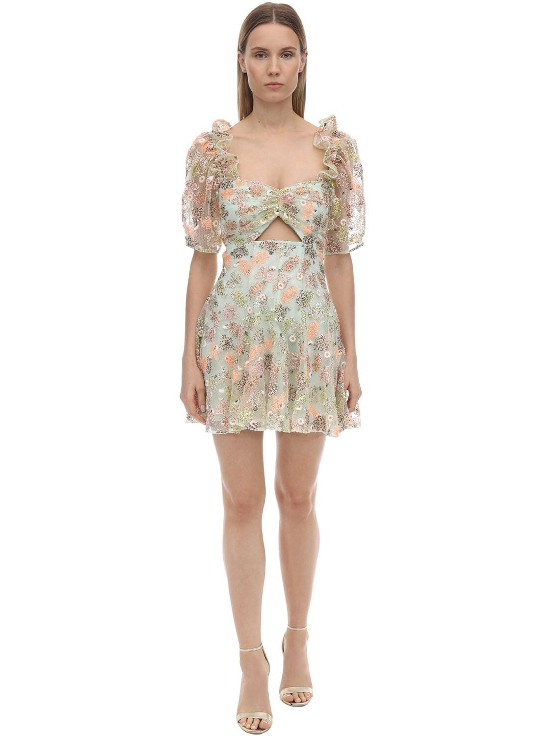 ALICE MCCALL Sequined Lace Mini Dress