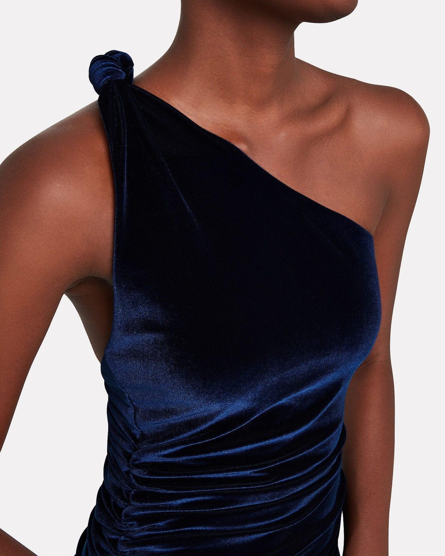 ALIX NYC Celeste Ruched Velvet Dress