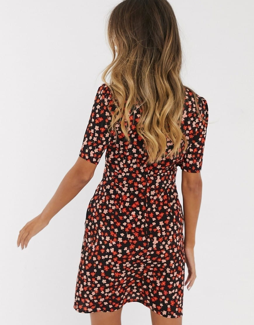 ASOS DESIGN Buttons Mini Tea Dress