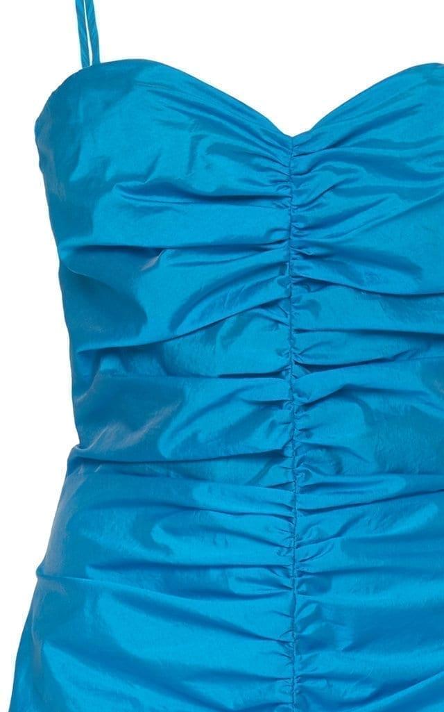 ATTICO Ruched Shell Midi Dress
