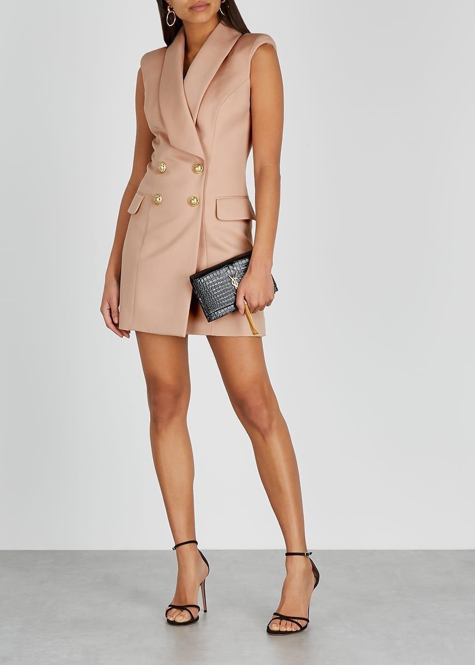 BALMAIN Blush Wool Blazer Dress