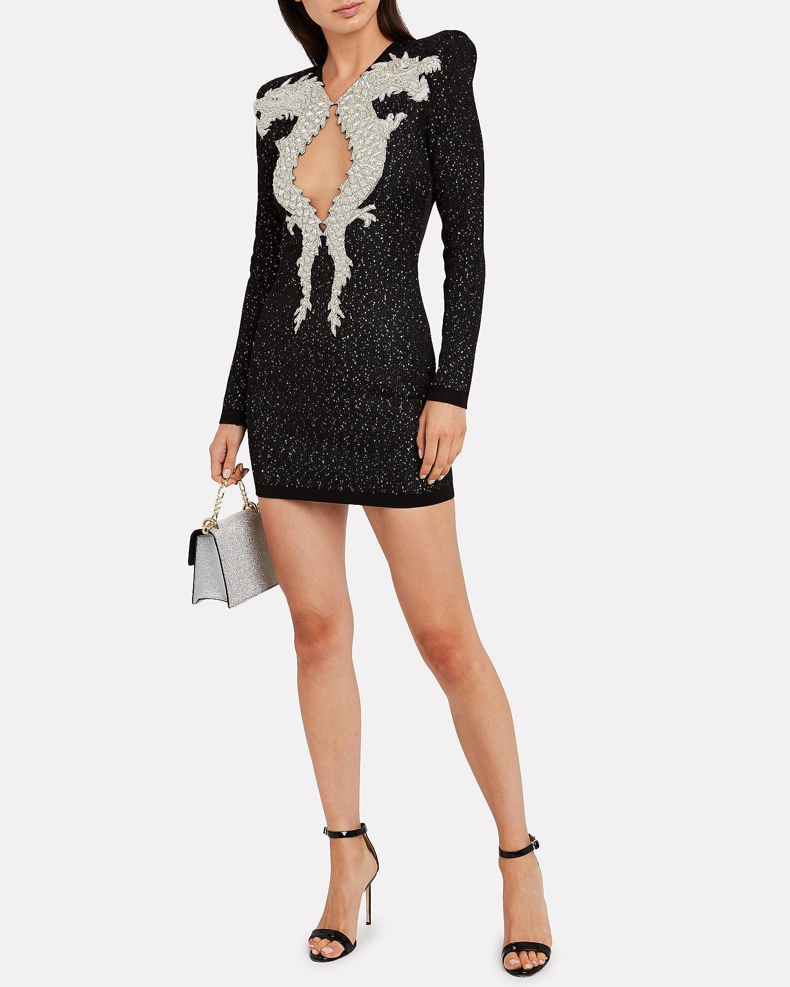 BALMAIN Dragon Embellished Knit Dress
