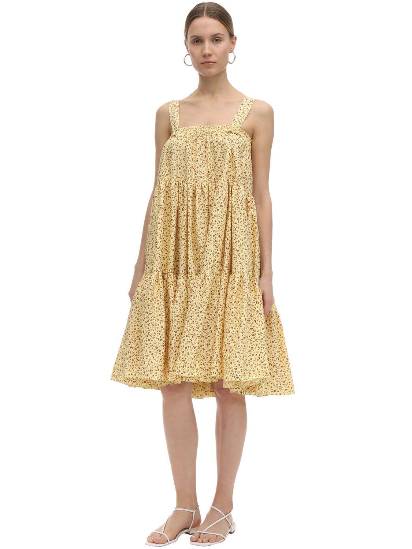 BATSHEVA Amy Printed Cotton Ruffled Skirt & Dress