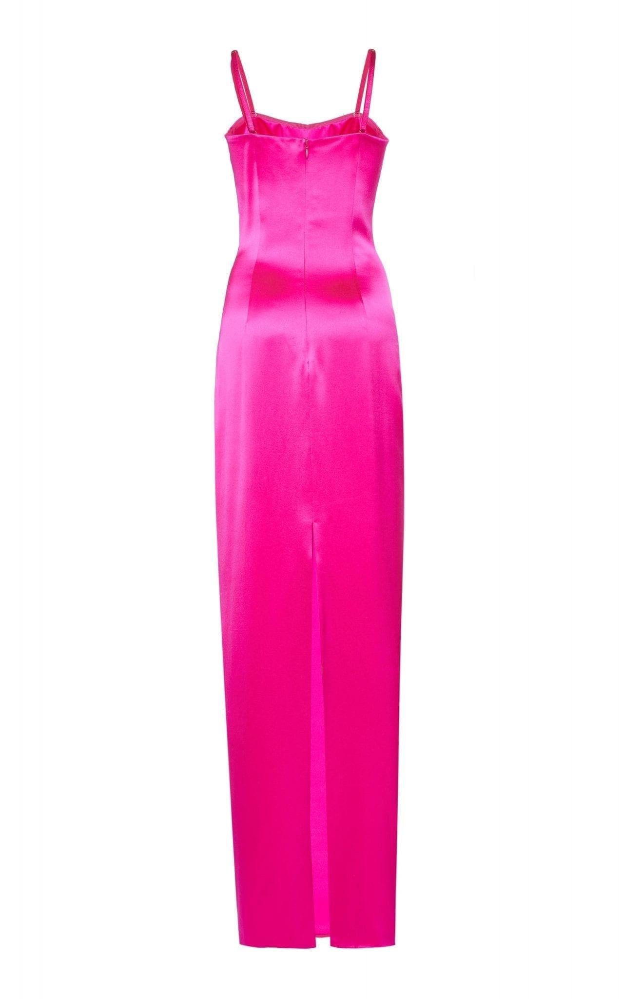 BRANDON MAXWELL Silk-Satin Bustier Gown