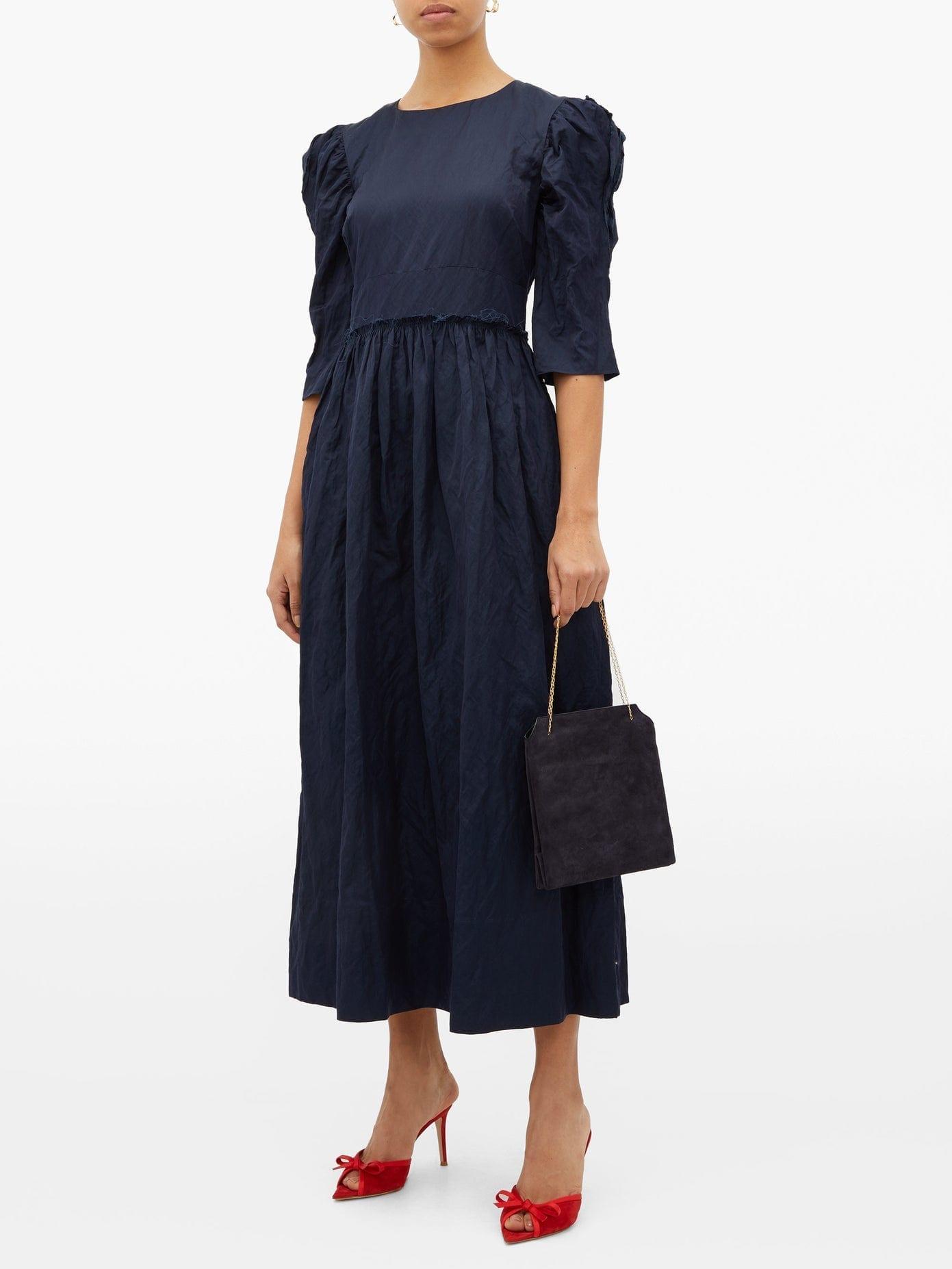 BROCK COLLECTION Puffed-sleeve Twill Dress