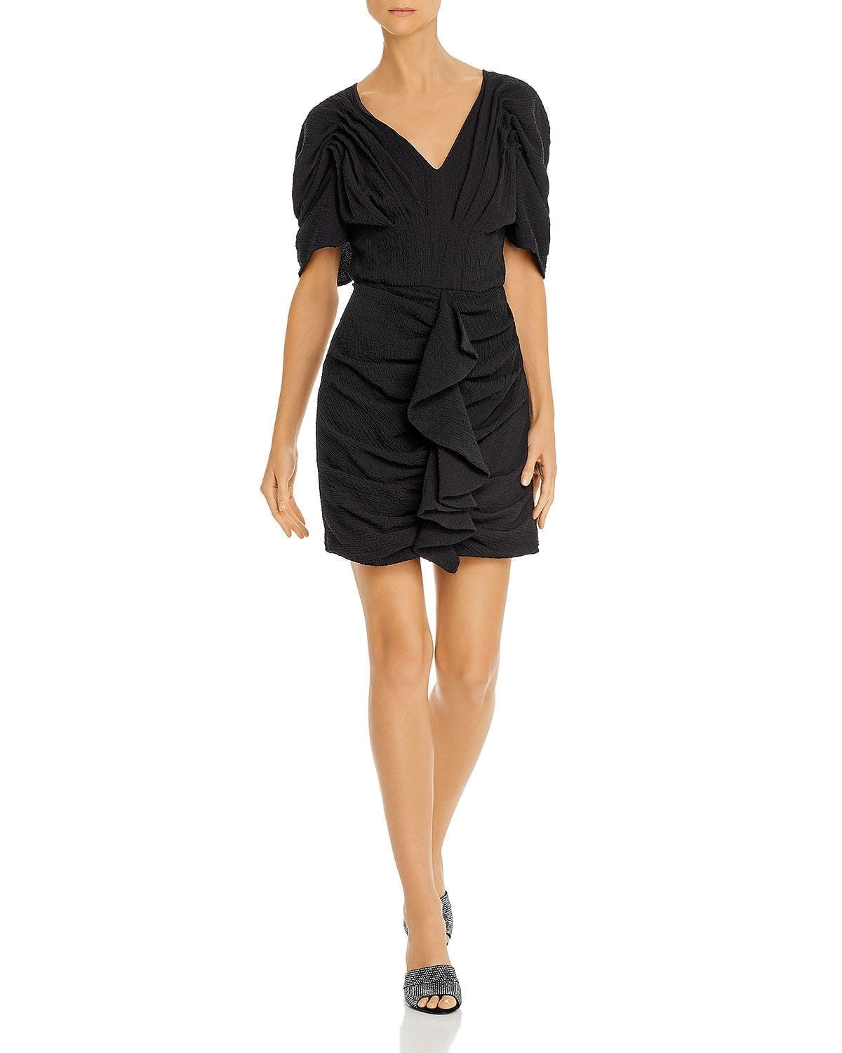 C/MEO COLLECTIVE Soaked Puff-Sleeve Mini Dress
