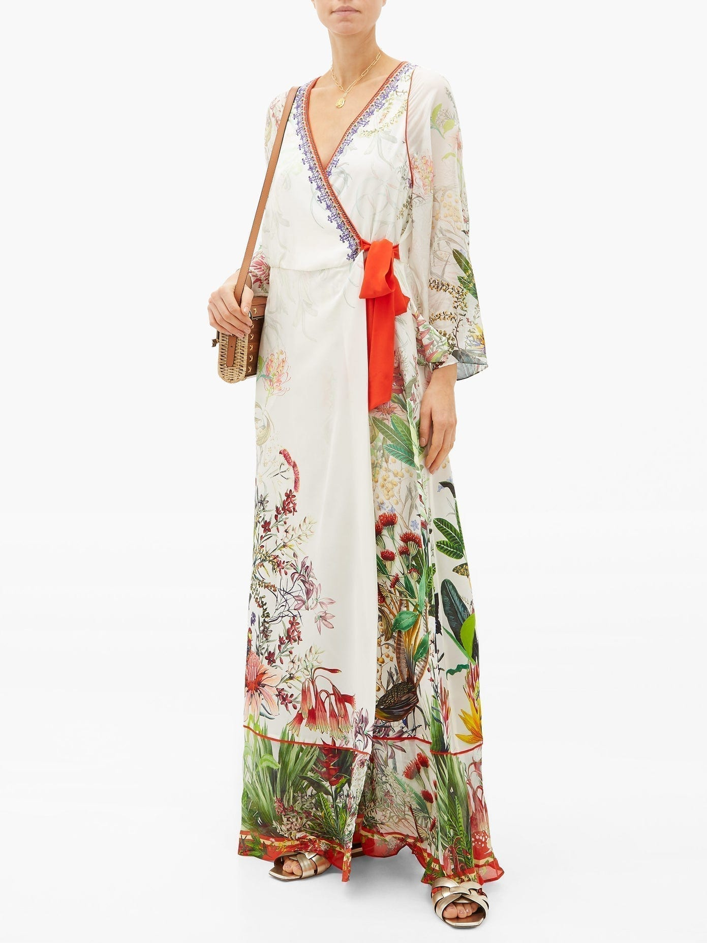 CAMILLA Faraway Tree Silk Wrap Dress