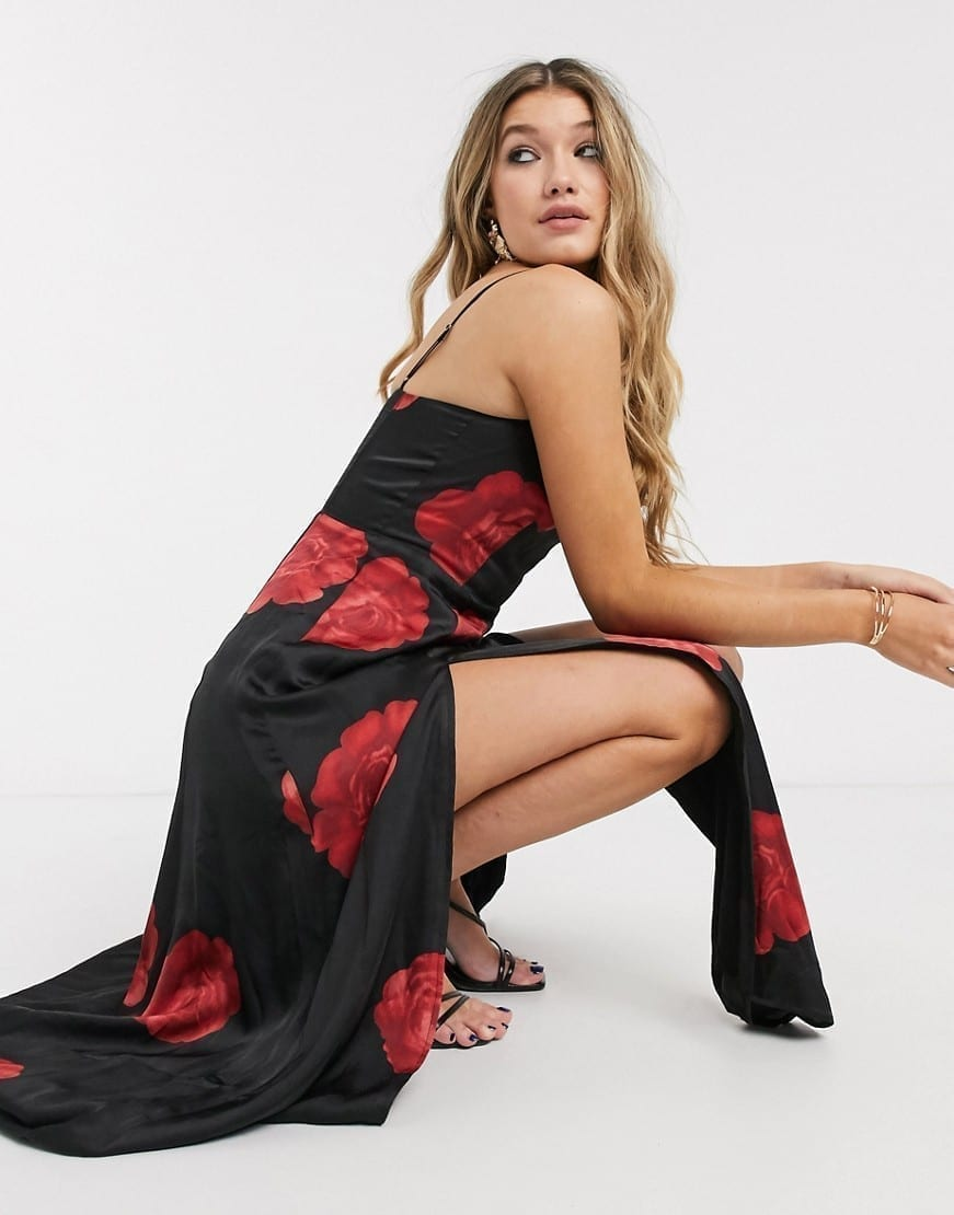 CAPULET Dalia Maxi Satin Slip Dress