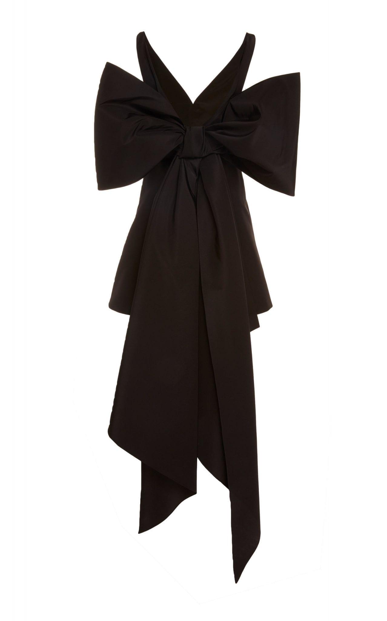 CAROLINA HERRERA Bow-Detailed Silk-Taffeta Mini Dress