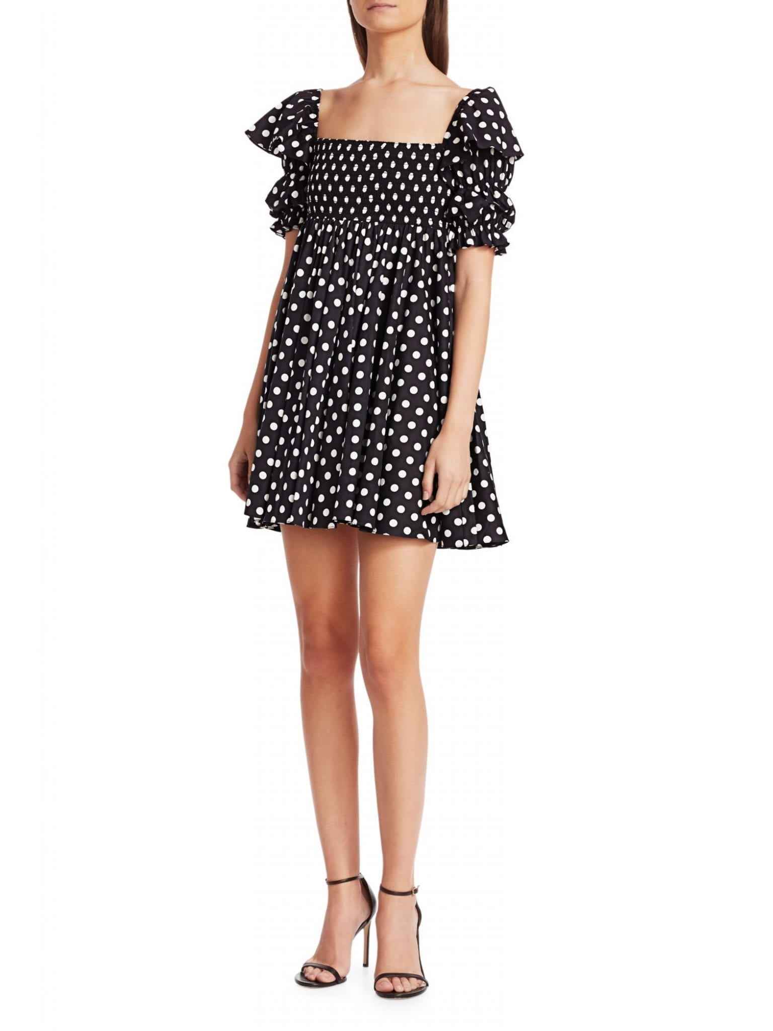 CAROLINE CONSTAS Hanna Polka Dot Mini Dress