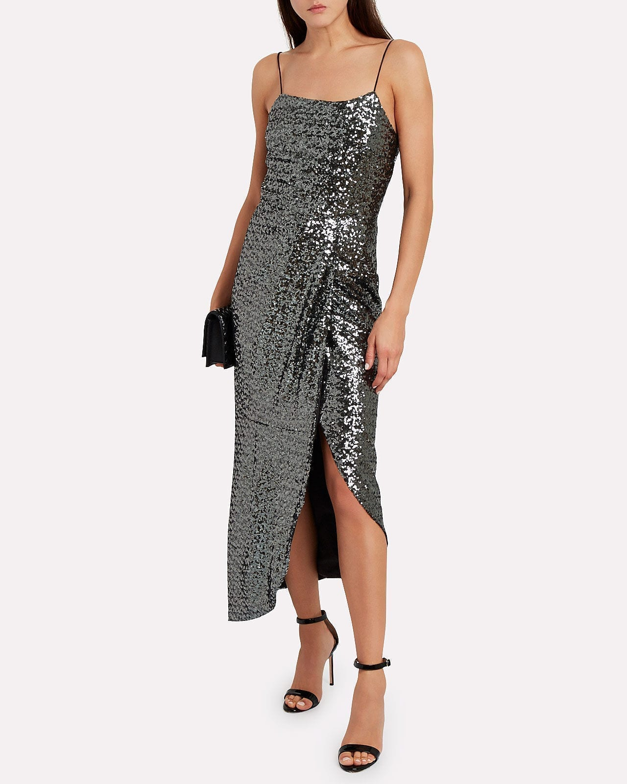 DEREK LAM 10 CROSBY Lexis Sequined Sarong Dress