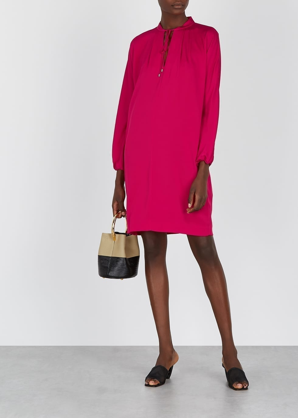 DIANE VON FURSTENBERG Jessica Fuchsia Silk-blend Tunic Dress