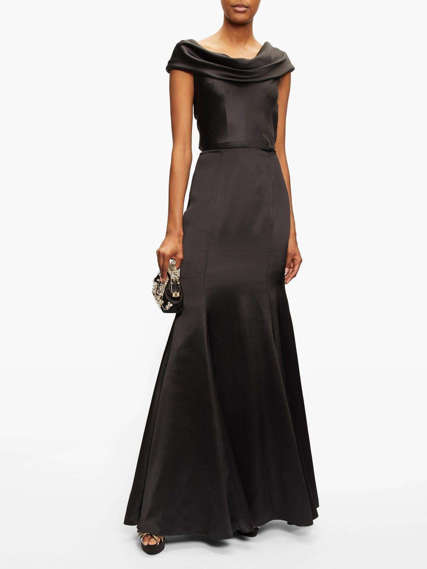 DOLCE & GABBANA Cowl-neck Silk-blend Satin Gown