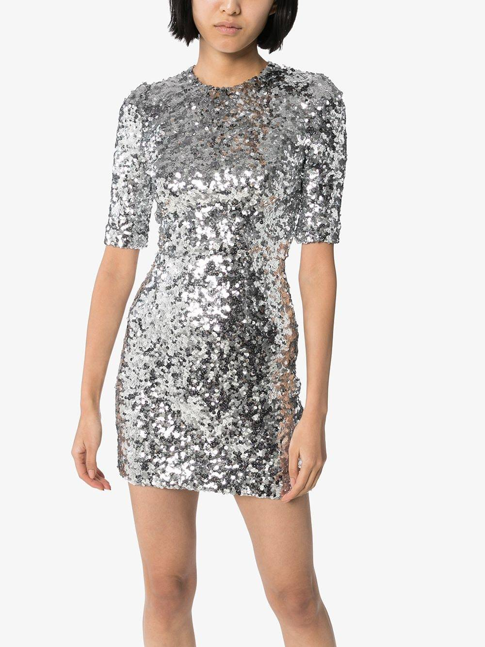 DOLCE & GABBANA Fitted Sequin Mini Dress