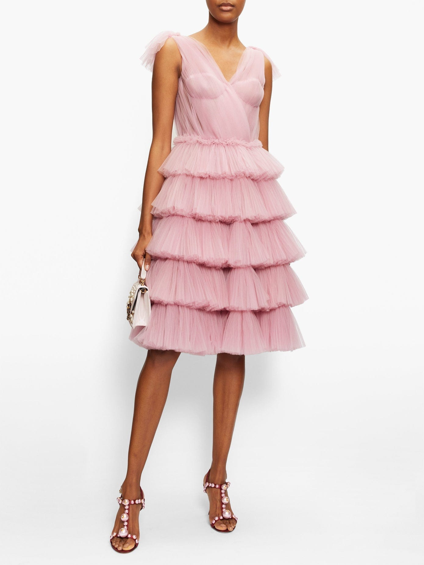 DOLCE & GABBANA Tiered Tulle Dress