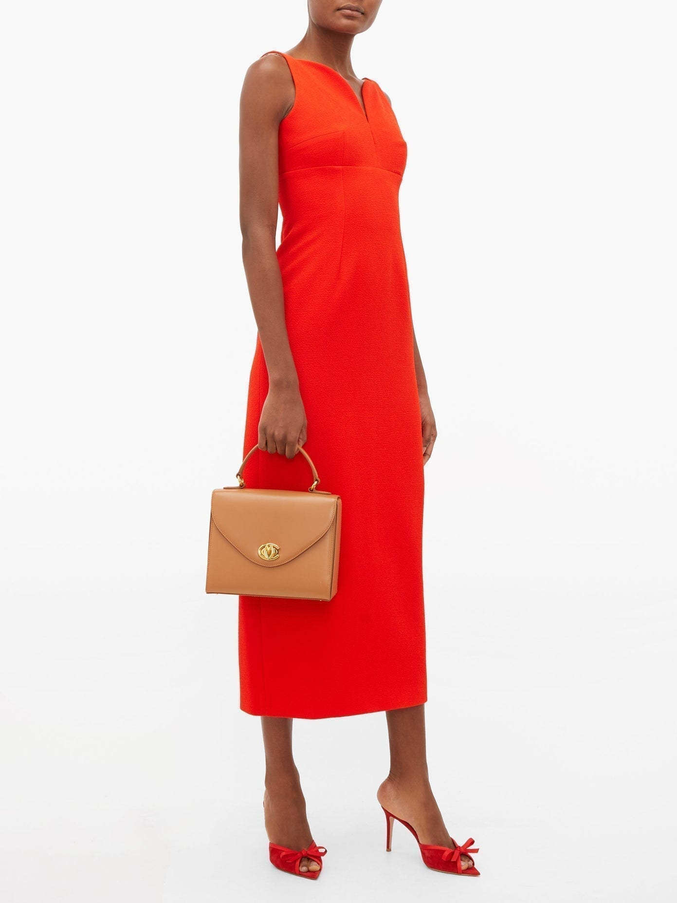 EMILIA WICKSTEAD Mathilda Sweetheart-neckline Crepe Dress