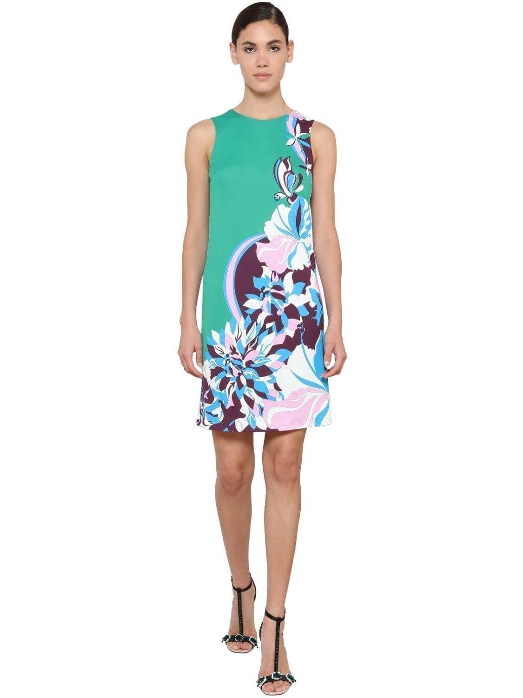 EMILIO PUCCI Printed Jersey Dress
