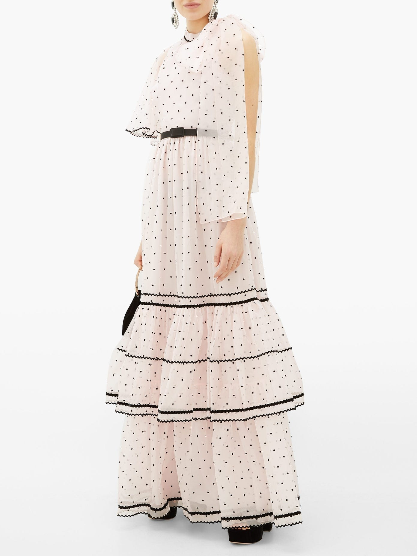 ERDEM Natalina One-shoulder Polka-dot Gown