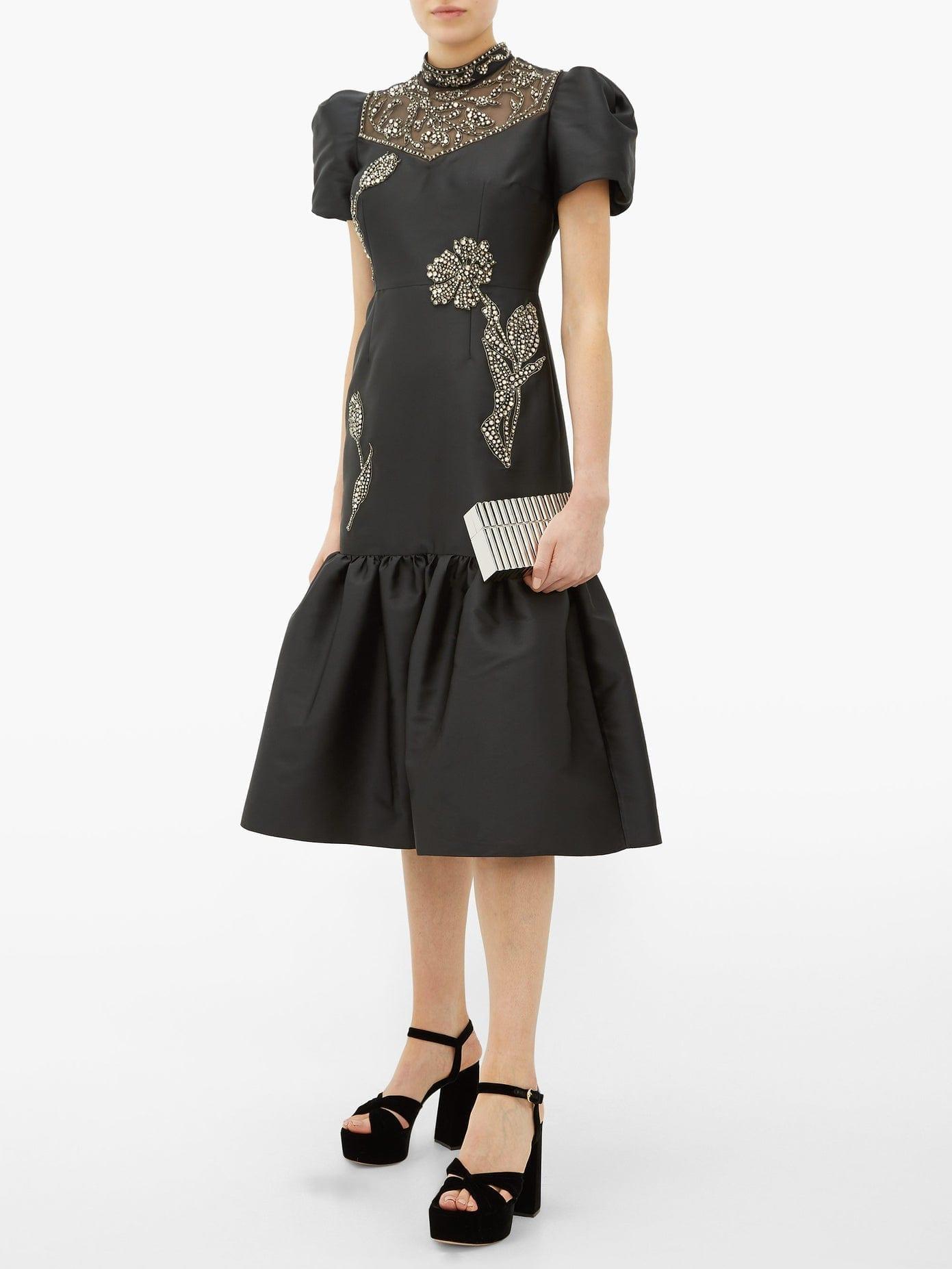 ERDEM Valetta Crystal-Embellished Mikado Dress