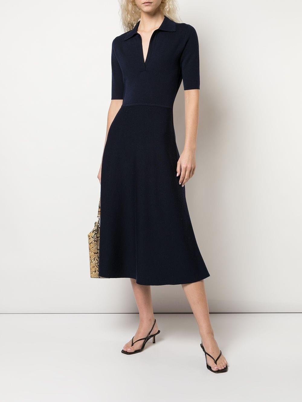 GABRIELA HEARST Bourgeois Collared Midi Dress