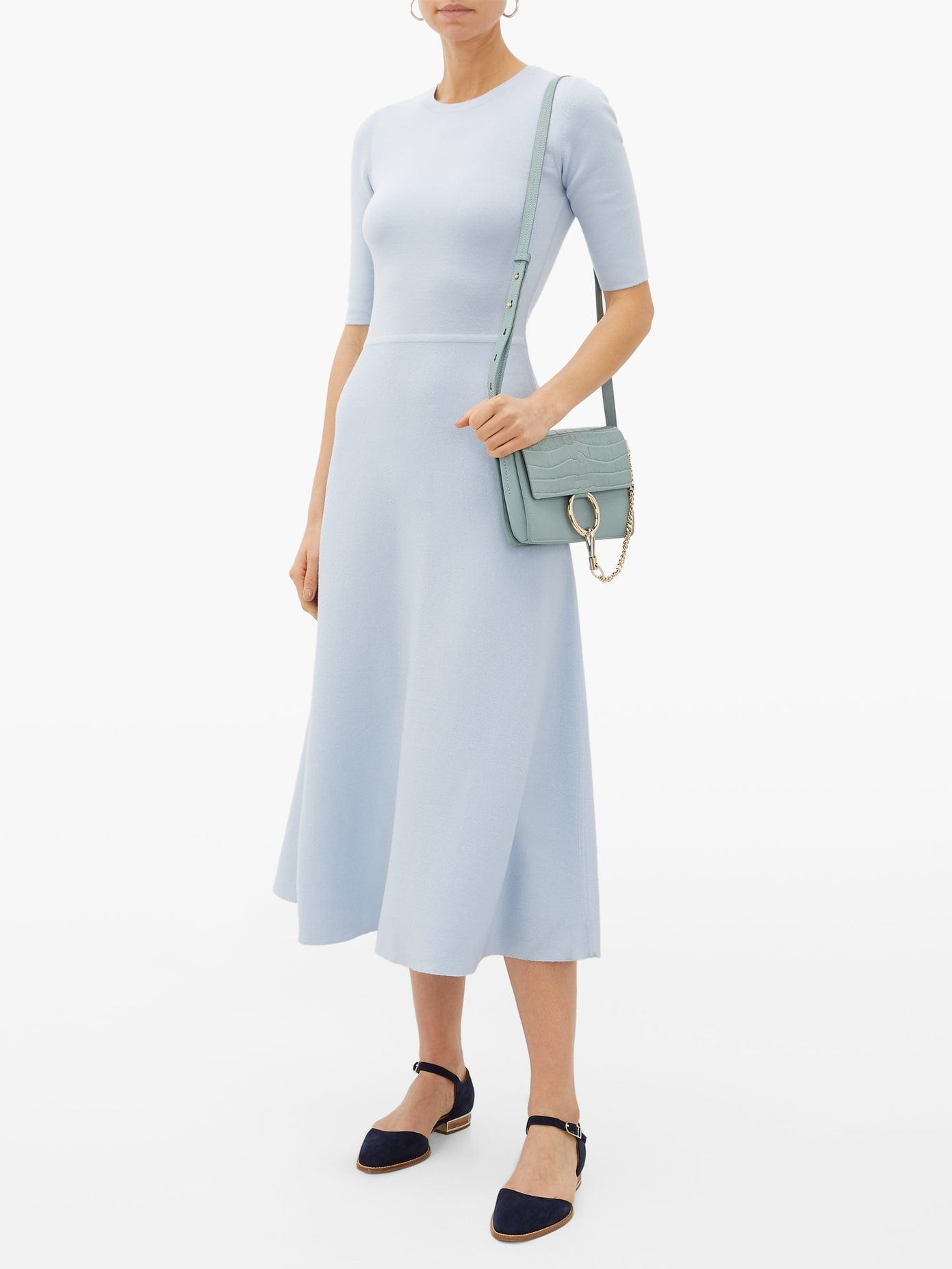 GABRIELA HEARST Seymore Wool And Cashmere-Blend Midi Dress