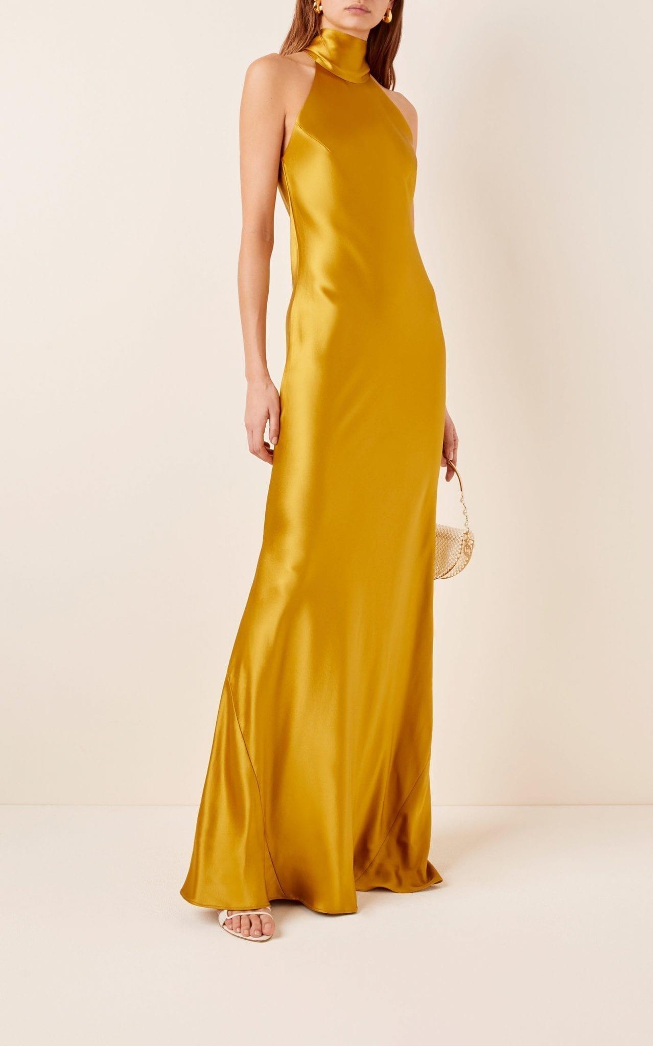 GALVAN Sienna Silk-Satin Gown
