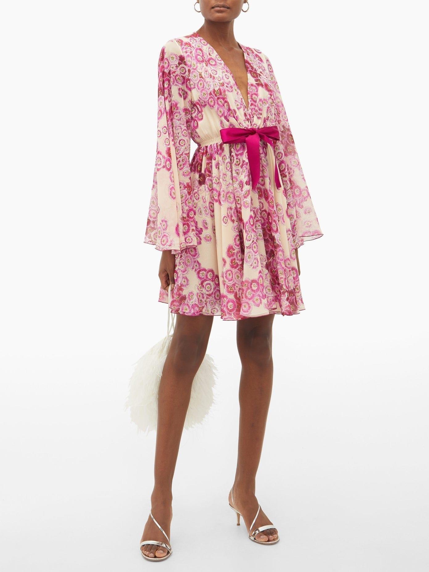 GIAMBATTISTA VALLI Floral-print Georgette Mini Dress