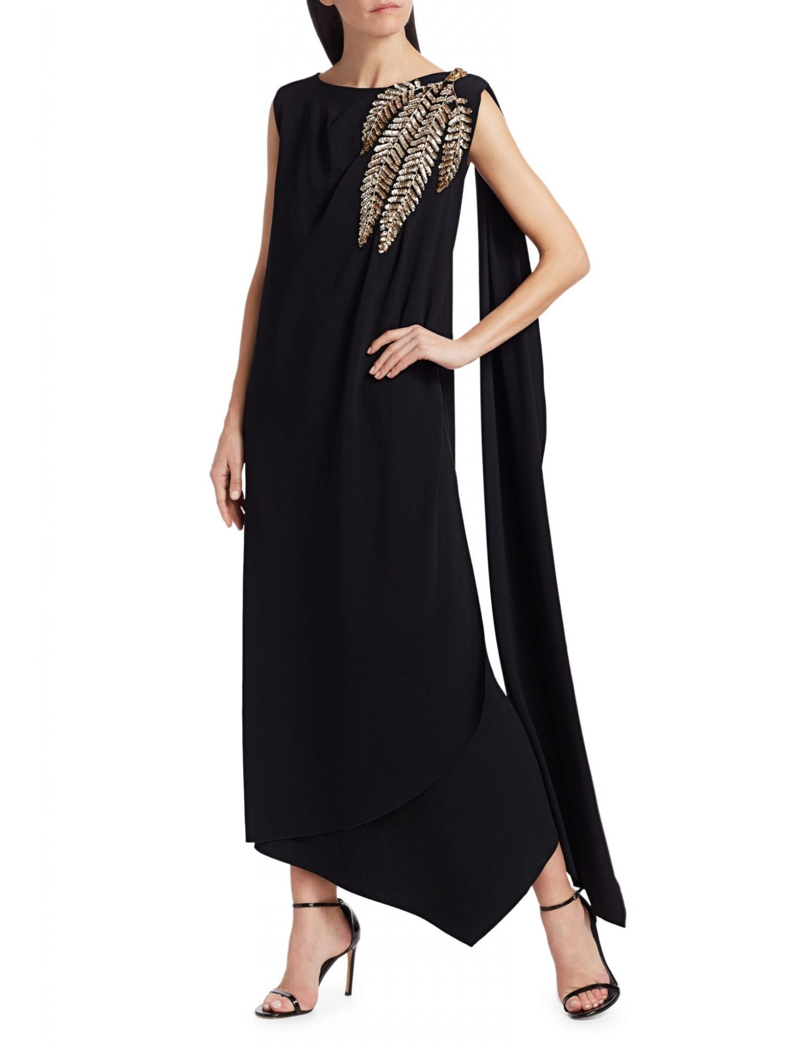 GUCCI Technical Jersey Embellished Sleeveless Gown
