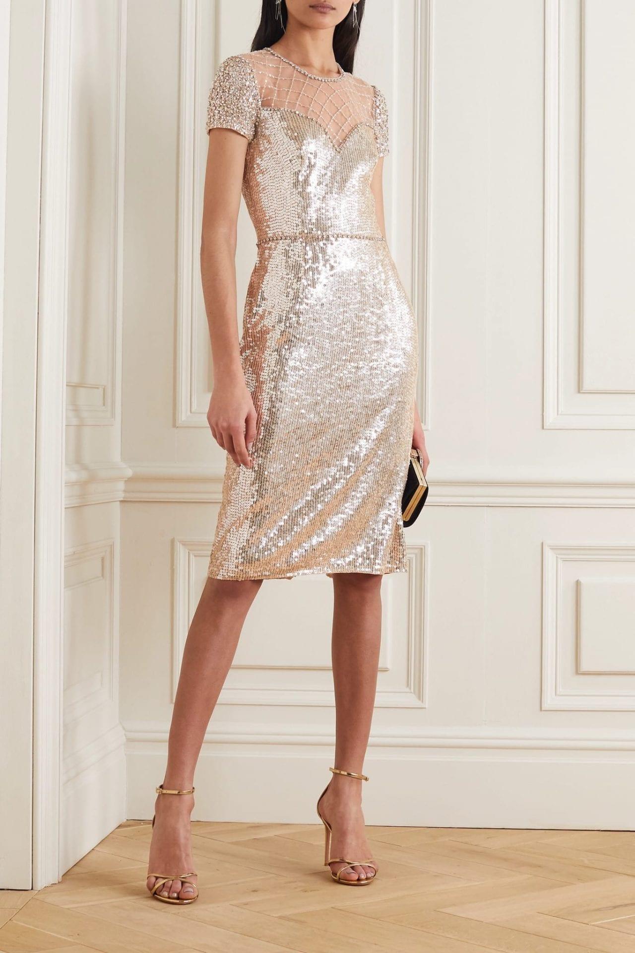 JENNY PACKHAM Delphine Embellished Sequined Tulle Dress