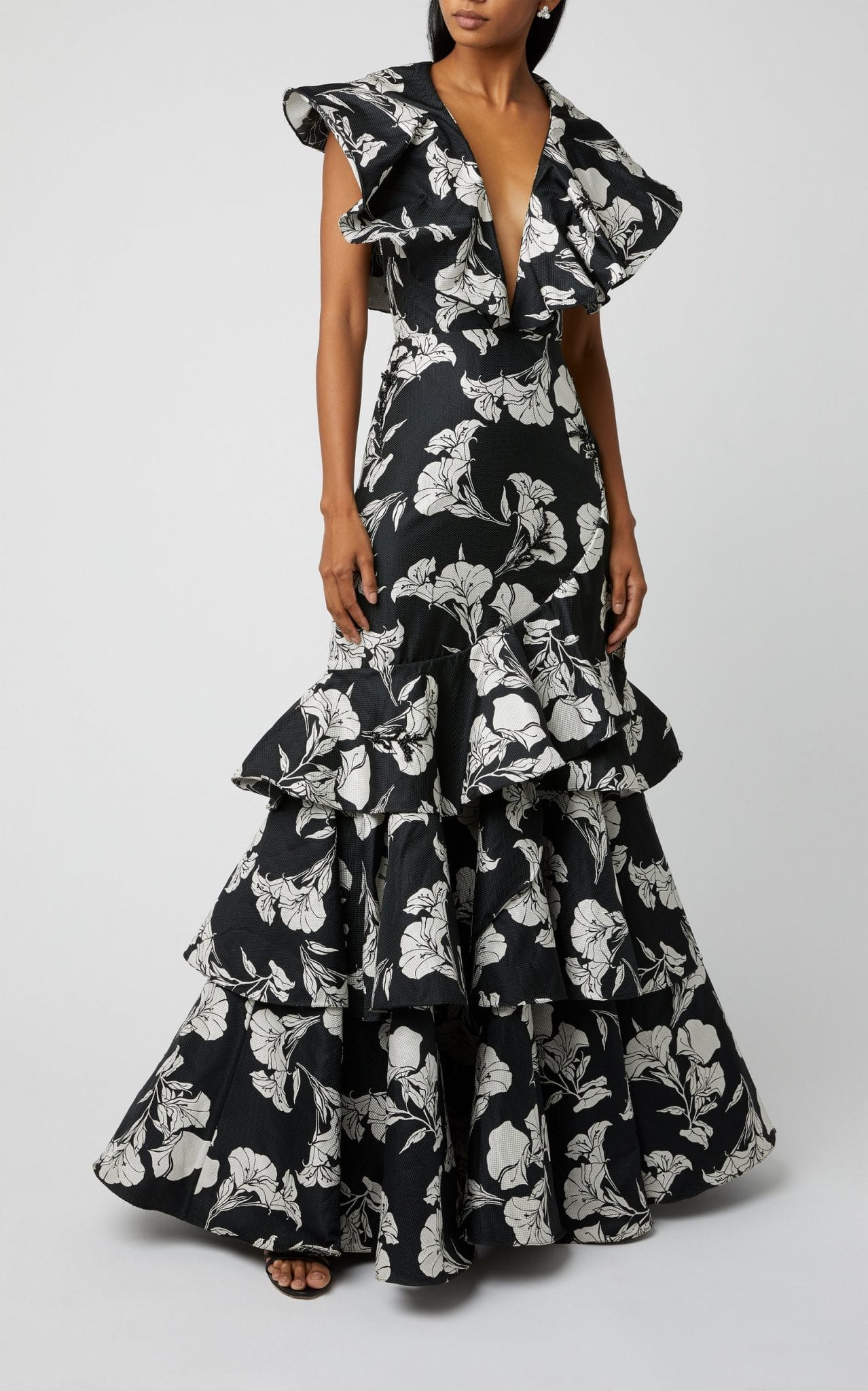 JOHANNA ORTIZ Exclusive Exquisite Pattern Embellished Gown