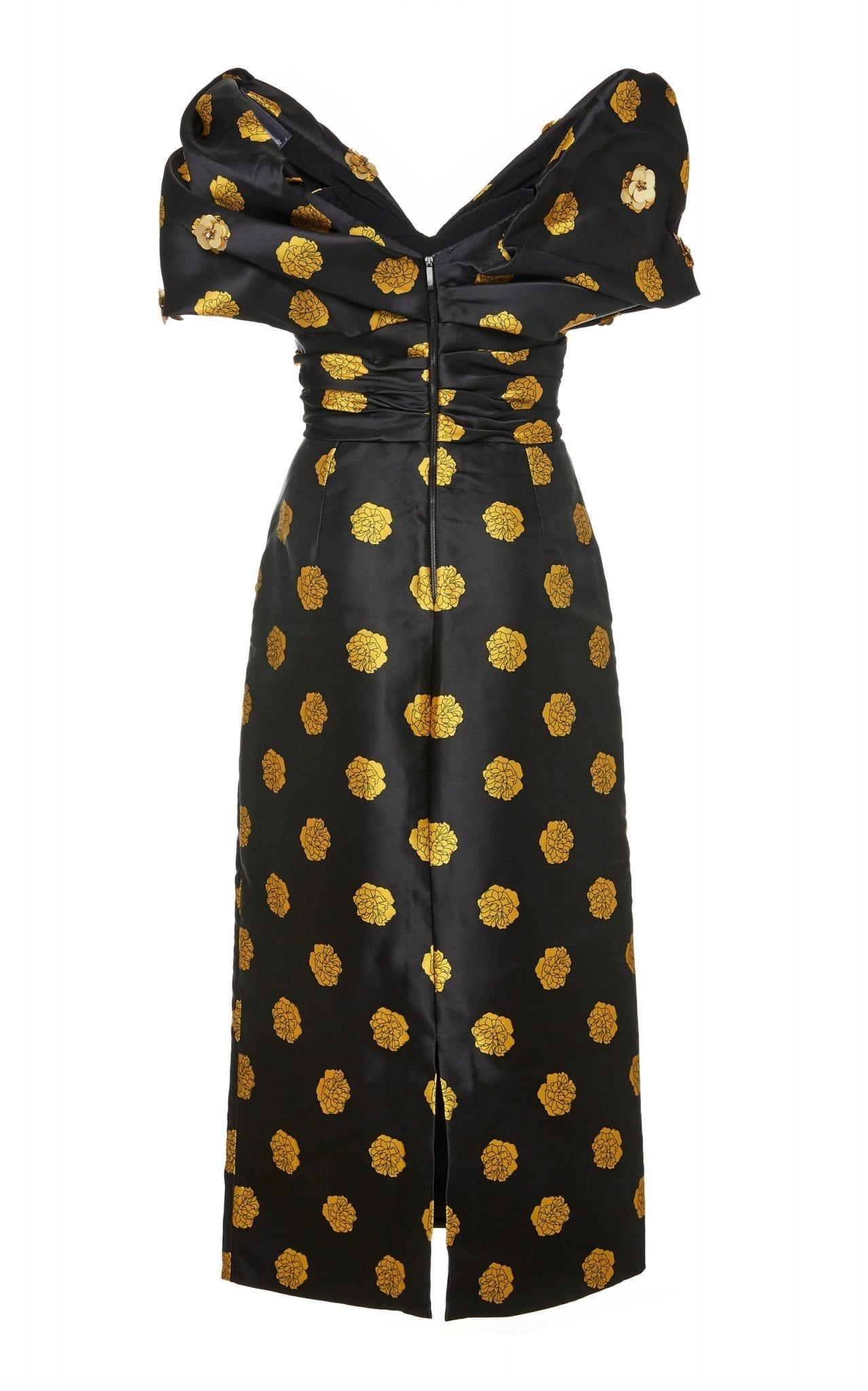 JOHANNA ORTIZ Exclusive Golden Phase Embellished Taffeta Dress