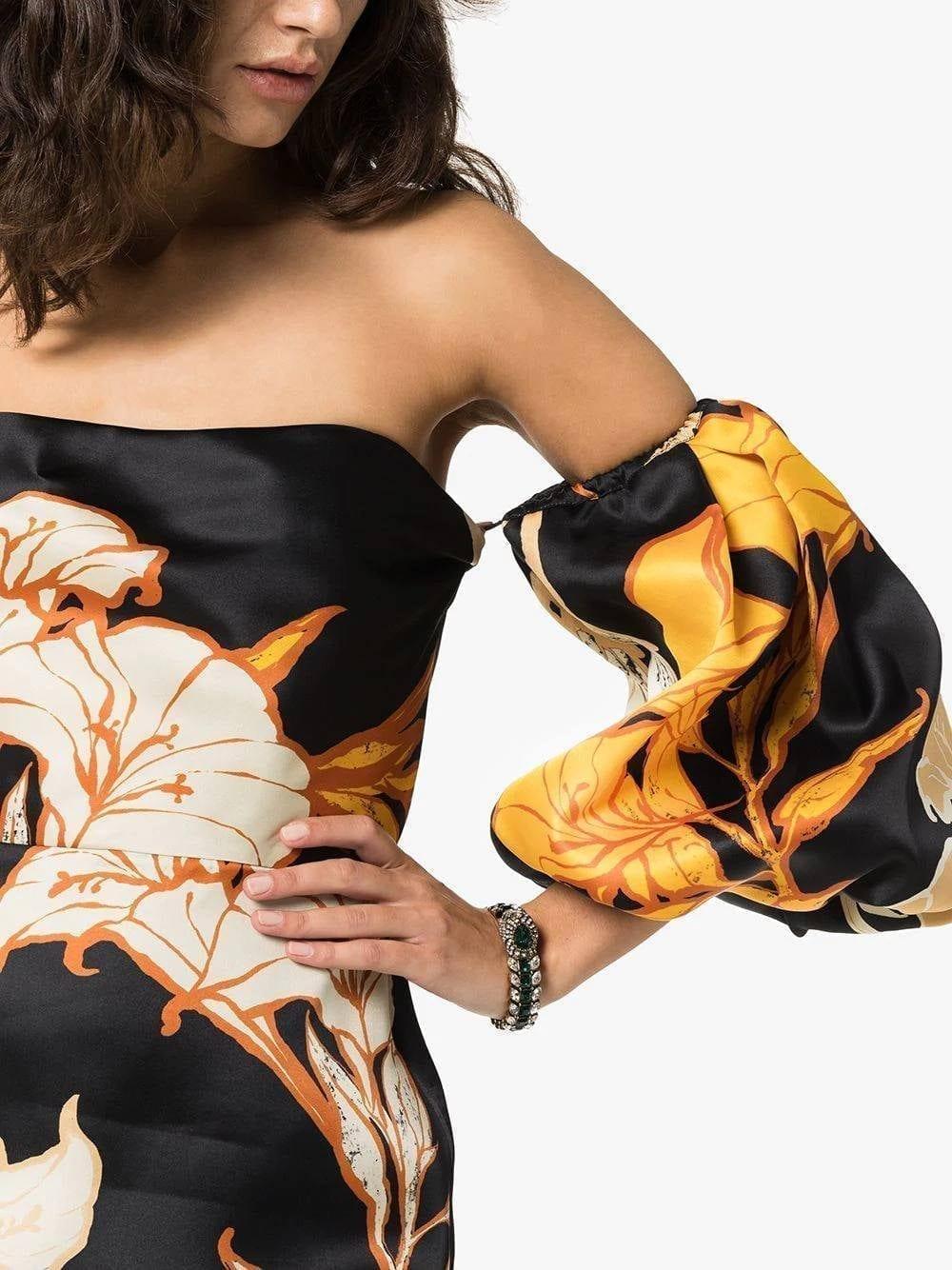 JOHANNA ORTIZ Silk Floral Mini Dress