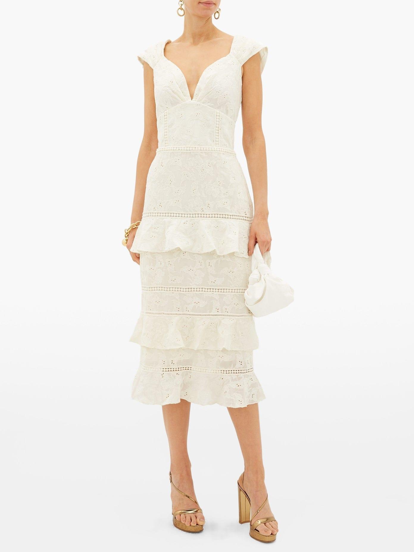 JOHANNA ORTIZ Traduce Me Embroidered Cotton-Voile Dress